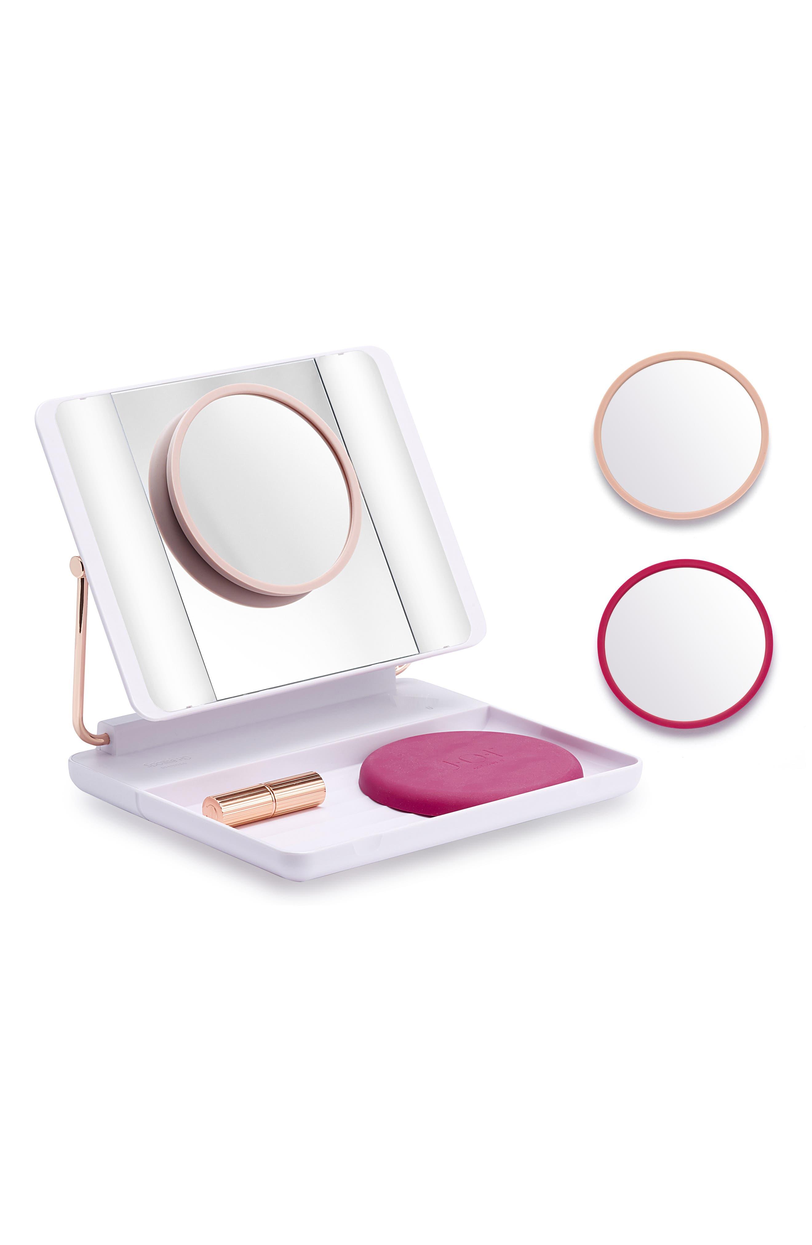 JOI Spotlite HD Diamond Makeup Mirror in Hot Blush, Main, color, 000