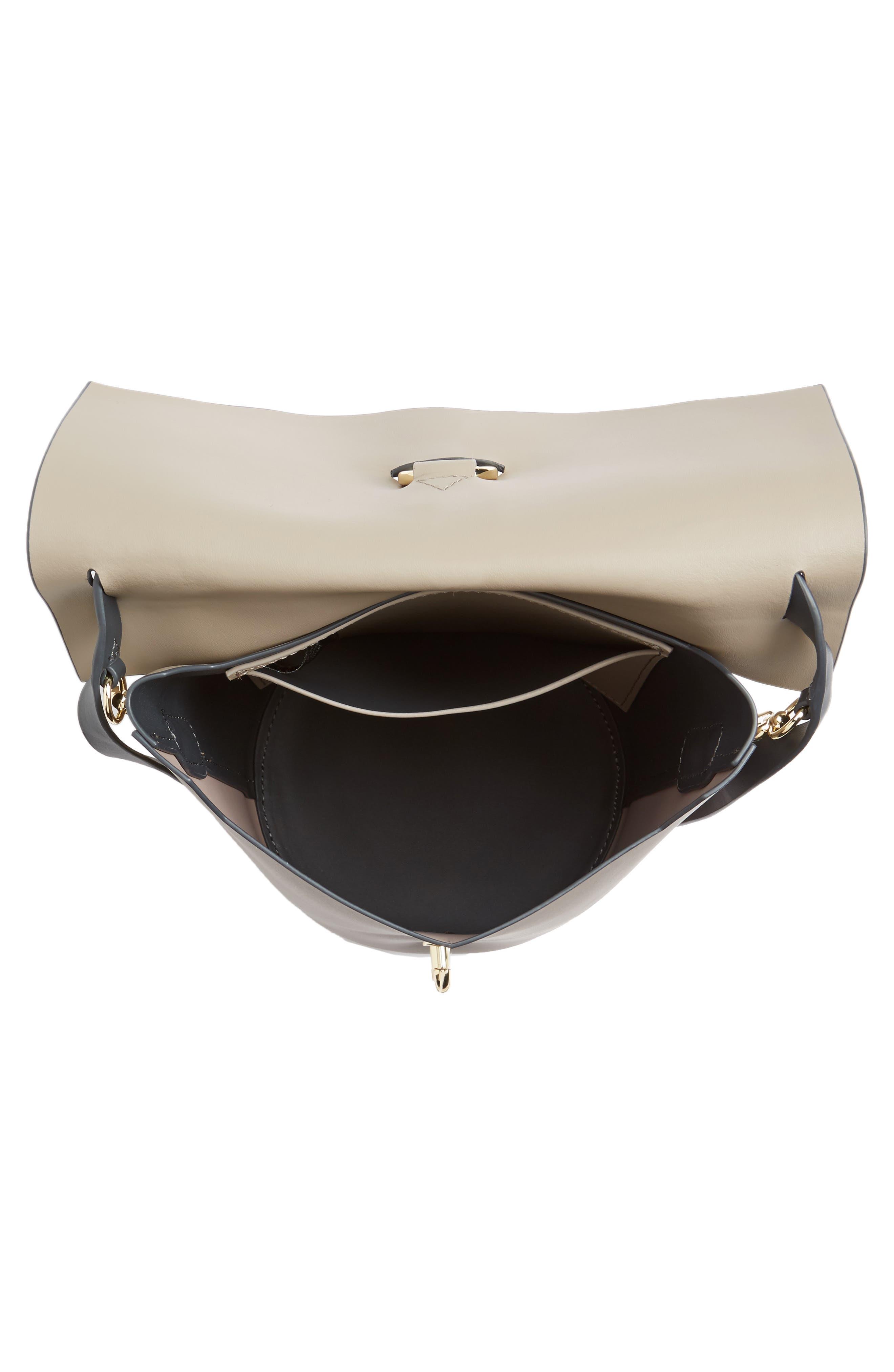 Belay Colorblock Leather Crossbody Bag,                             Alternate thumbnail 4, color,                             020