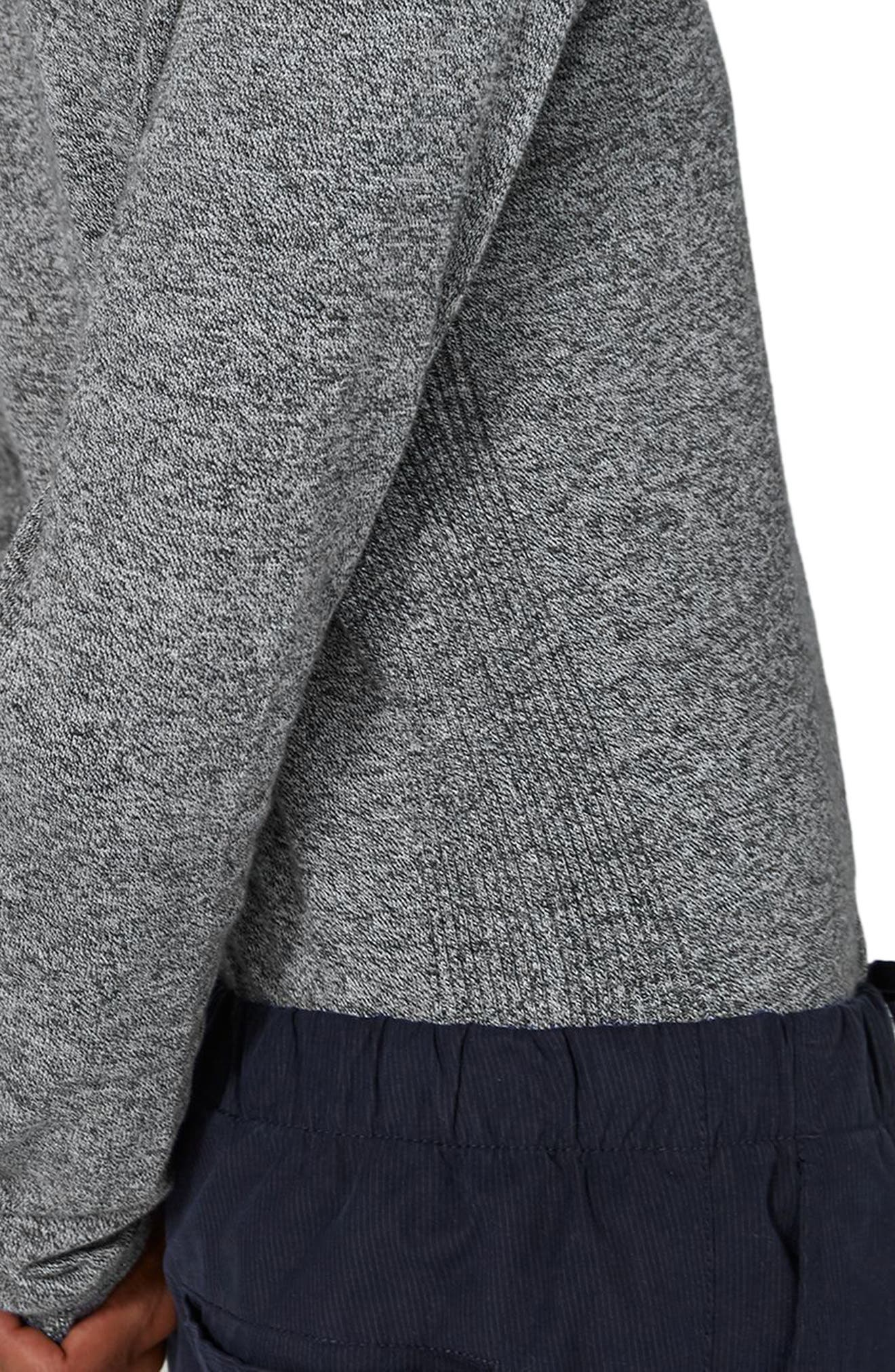 Side Ribbed Slim Fit Sweater,                             Alternate thumbnail 18, color,