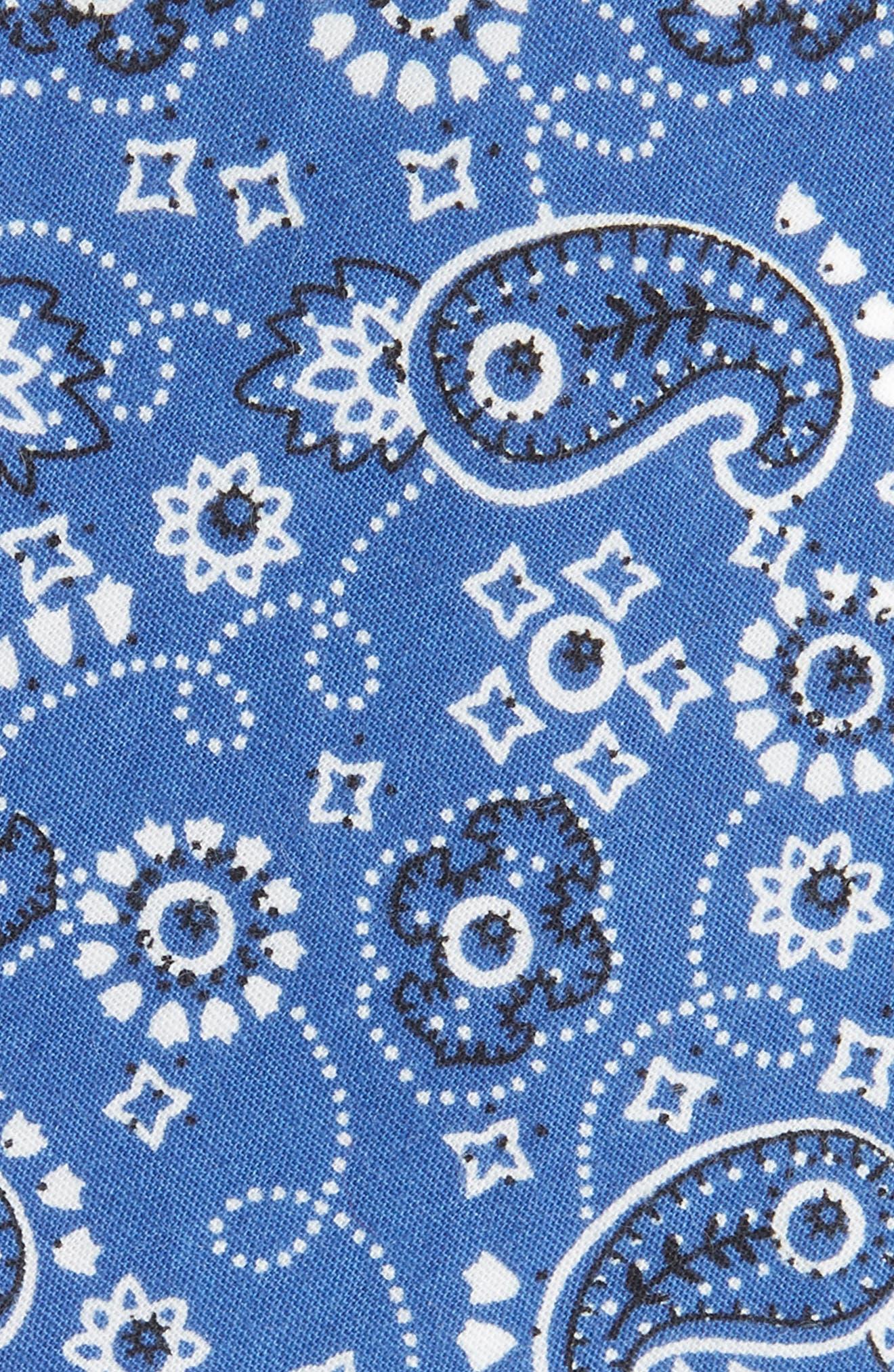 Orduna Paisley Cotton Tie,                             Alternate thumbnail 2, color,                             NAVY