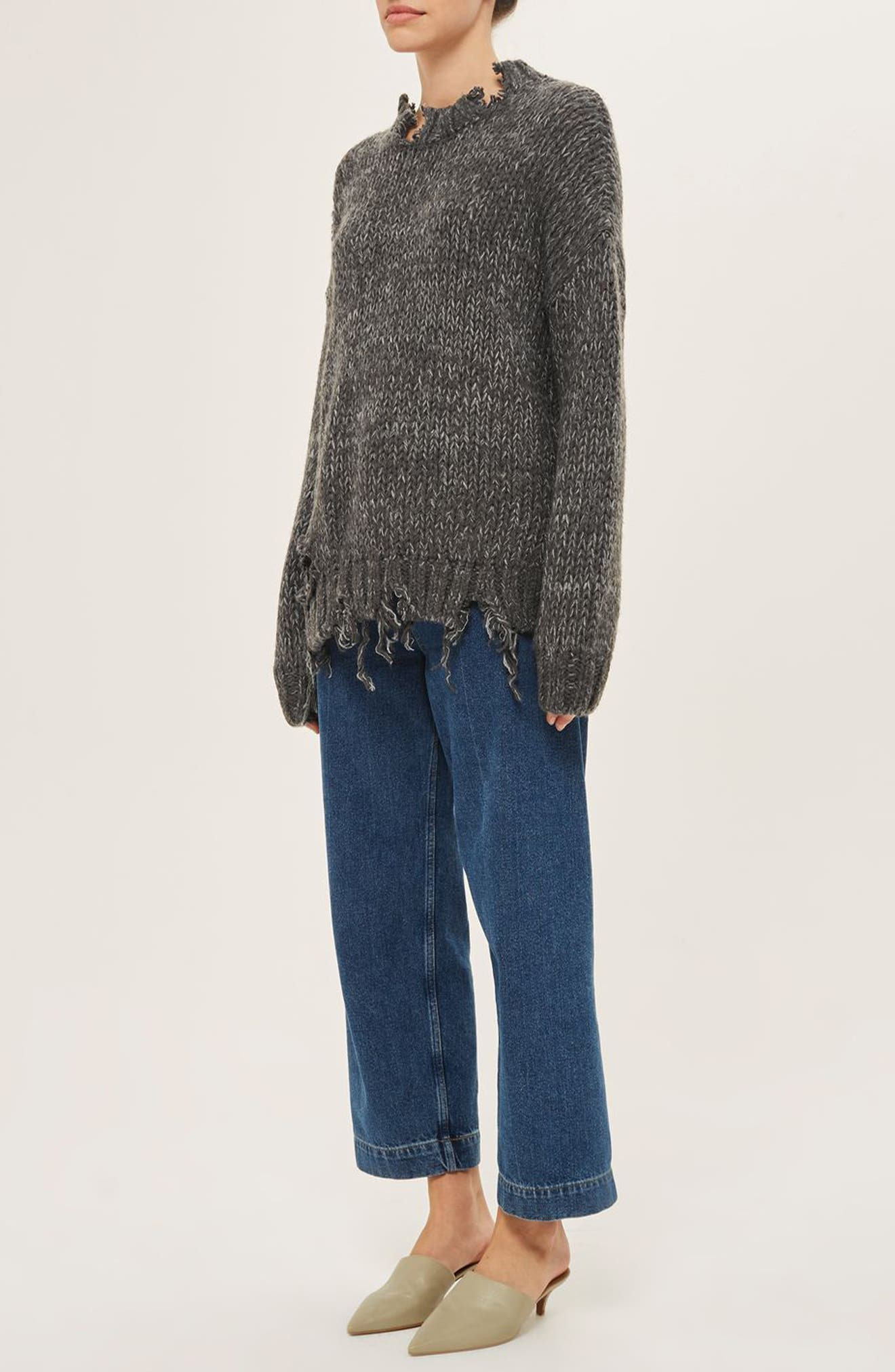 Ladder Stitch Detail Sweater,                             Alternate thumbnail 7, color,