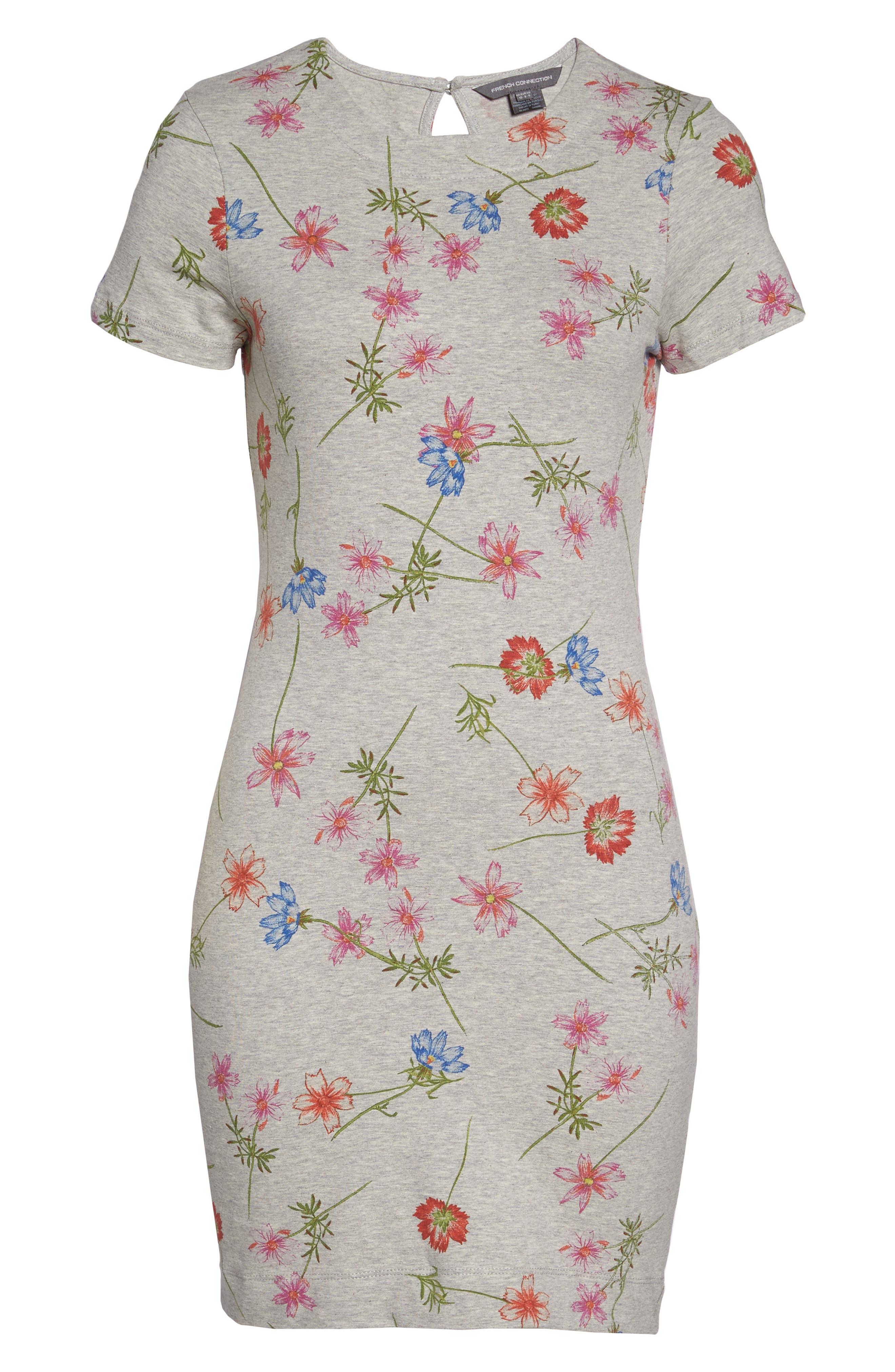 Botero Daisy Jersey Dress,                             Alternate thumbnail 6, color,                             076