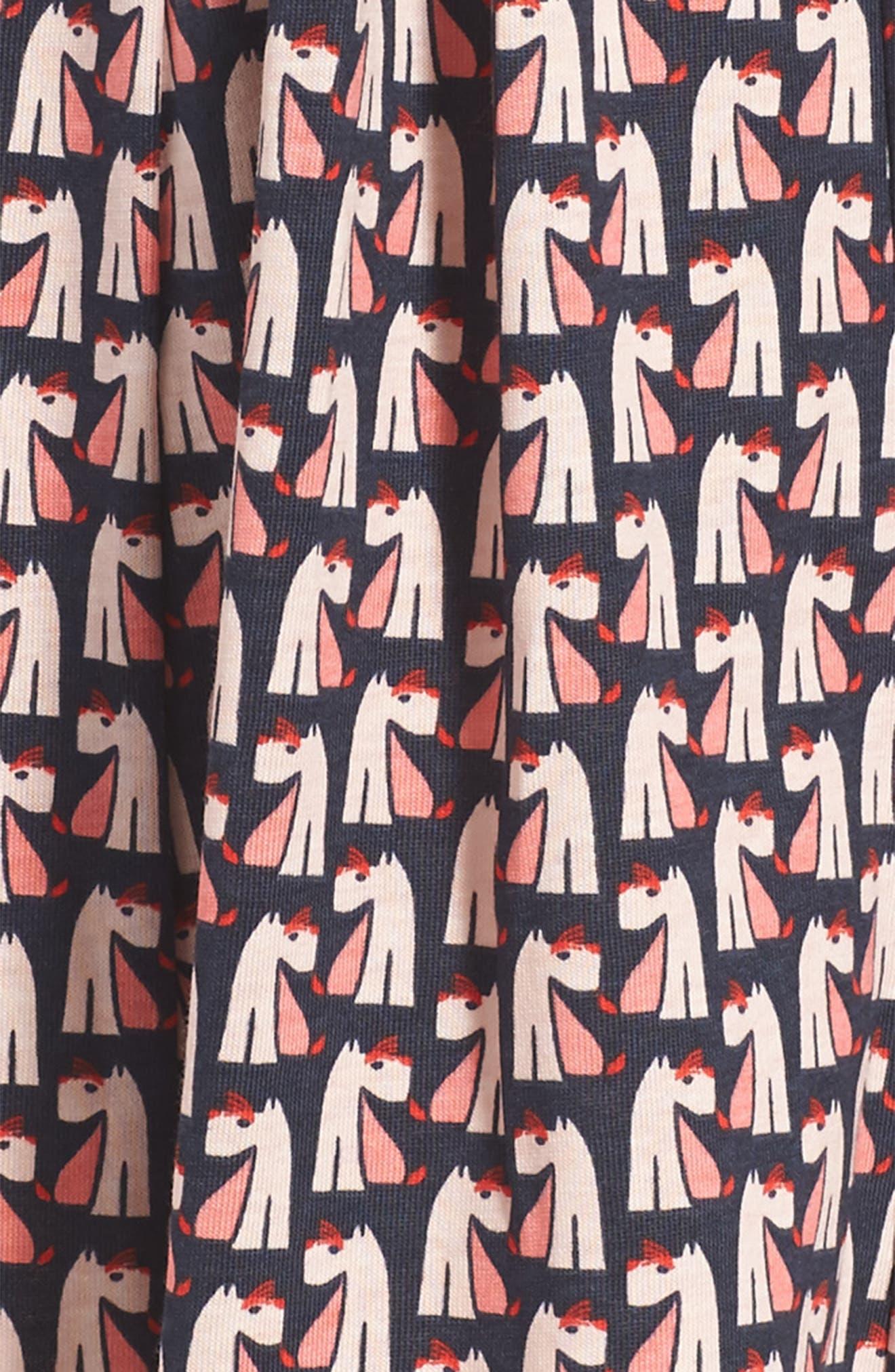 Scottie Dog Pleated Trapeze Dress,                             Alternate thumbnail 3, color,                             411