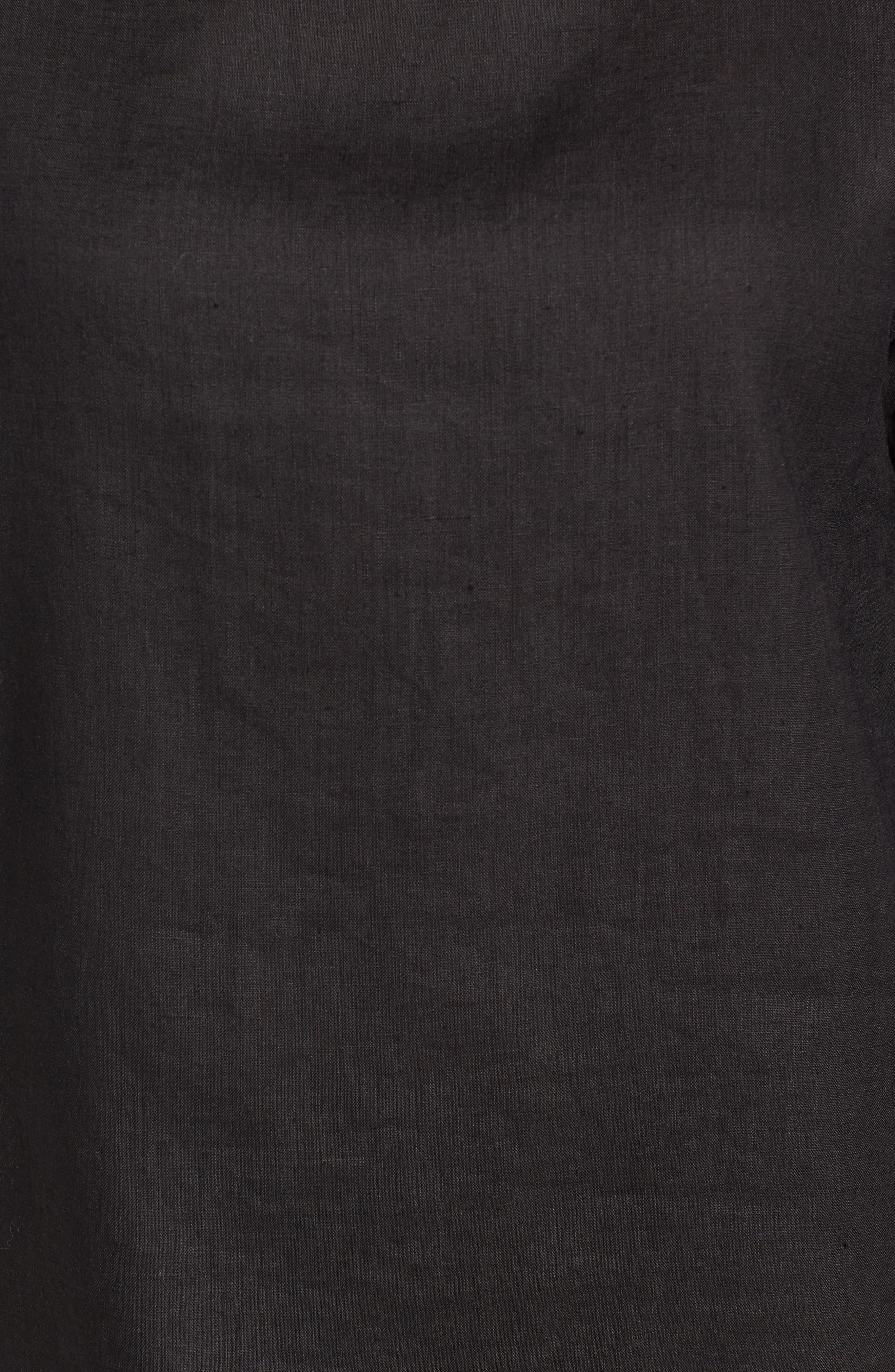 Organic Handkerchief Linen Top,                             Alternate thumbnail 6, color,                             001