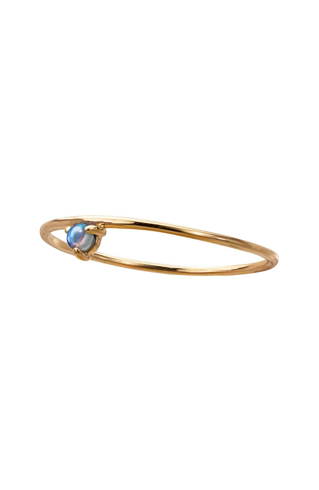 Counting Collection One-Step Opal Ring,                             Alternate thumbnail 4, color,                             YELLOW GOLD