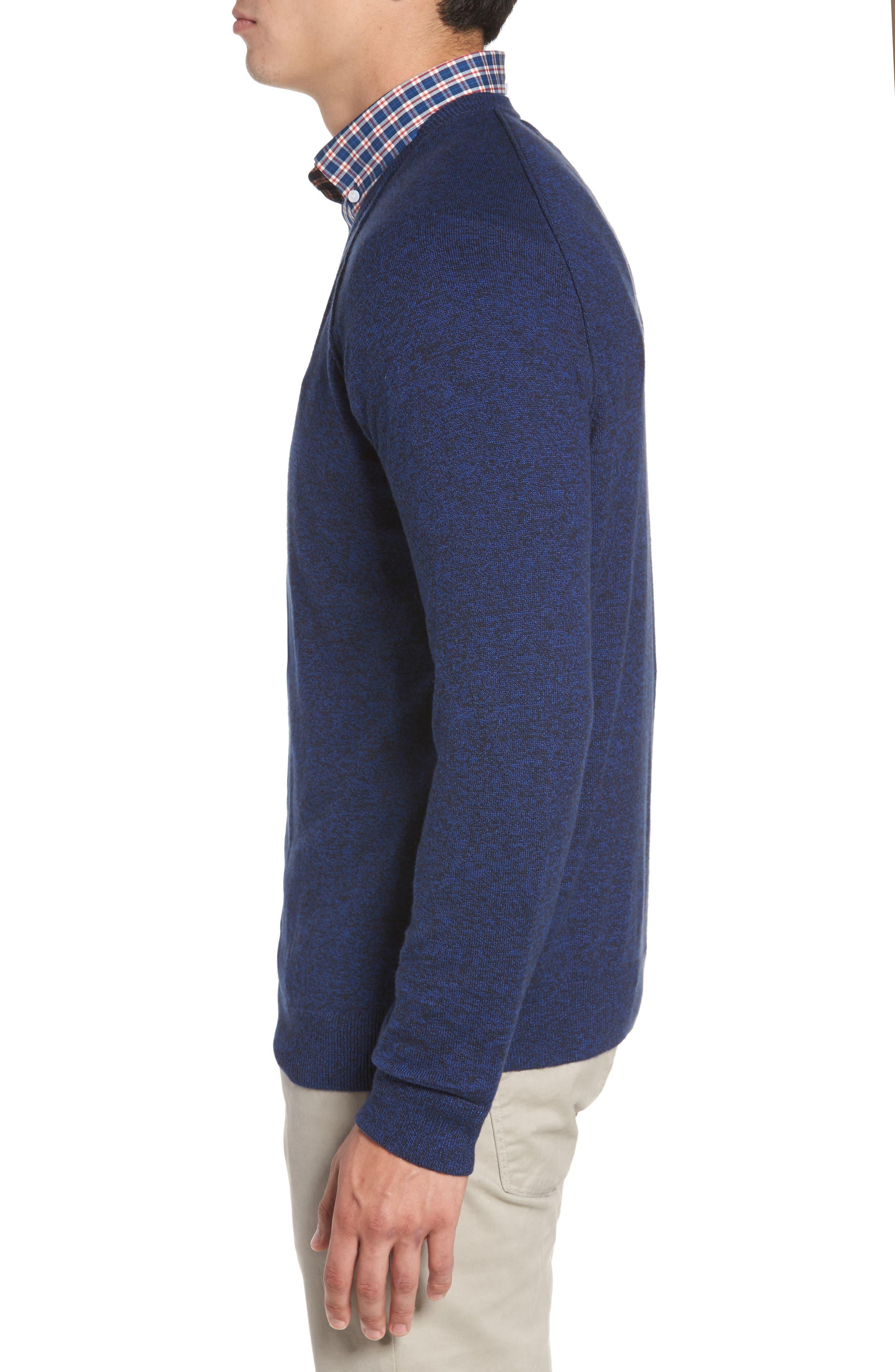 Saddle Shoulder Cotton & Cashmere V-Neck Sweater,                             Alternate thumbnail 22, color,