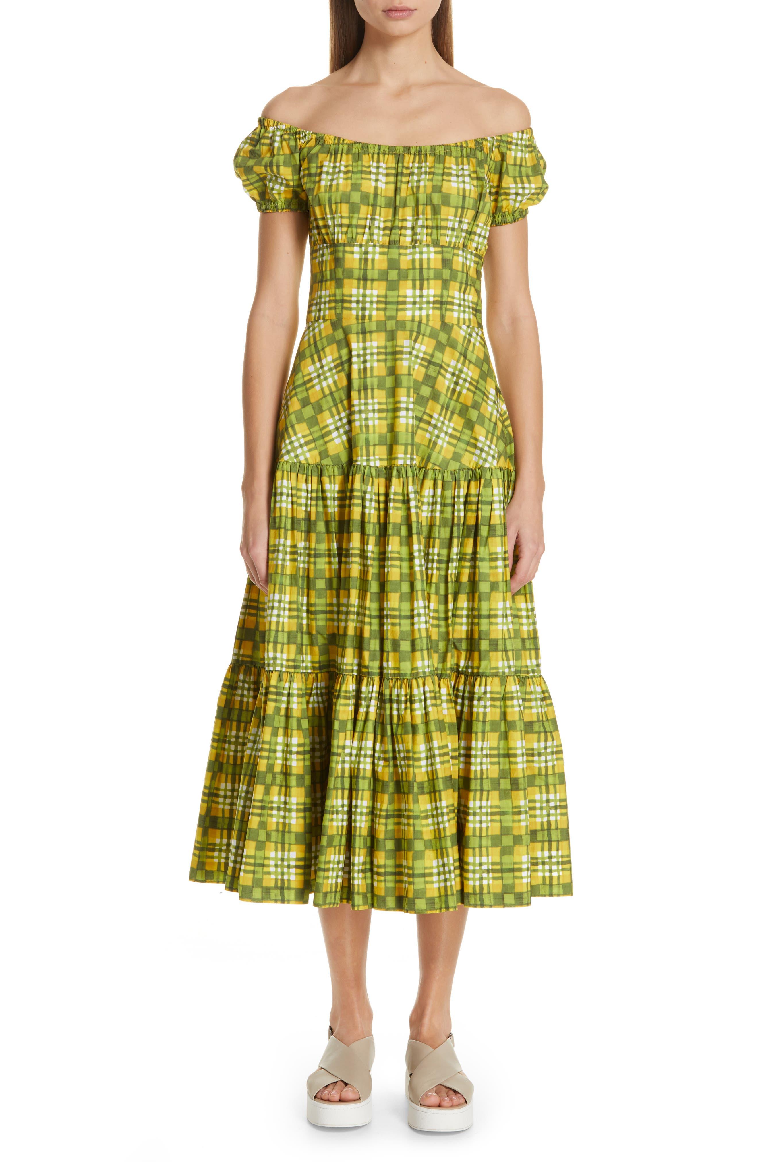 Off the Shoulder Dress, Main, color, DAISY MULTI