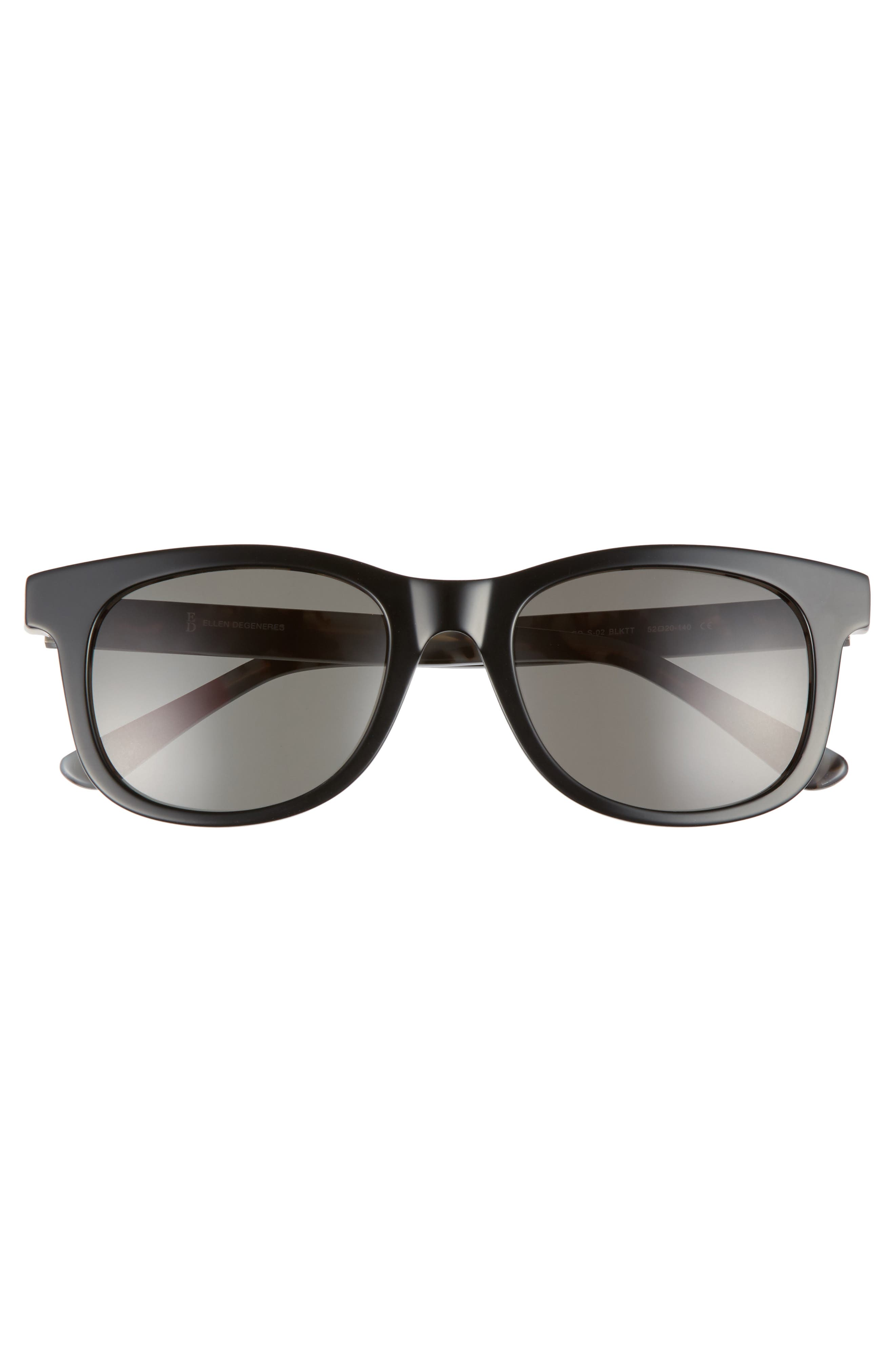 52mm Gradient Sunglasses,                             Alternate thumbnail 3, color,                             BLACK TORTOISE