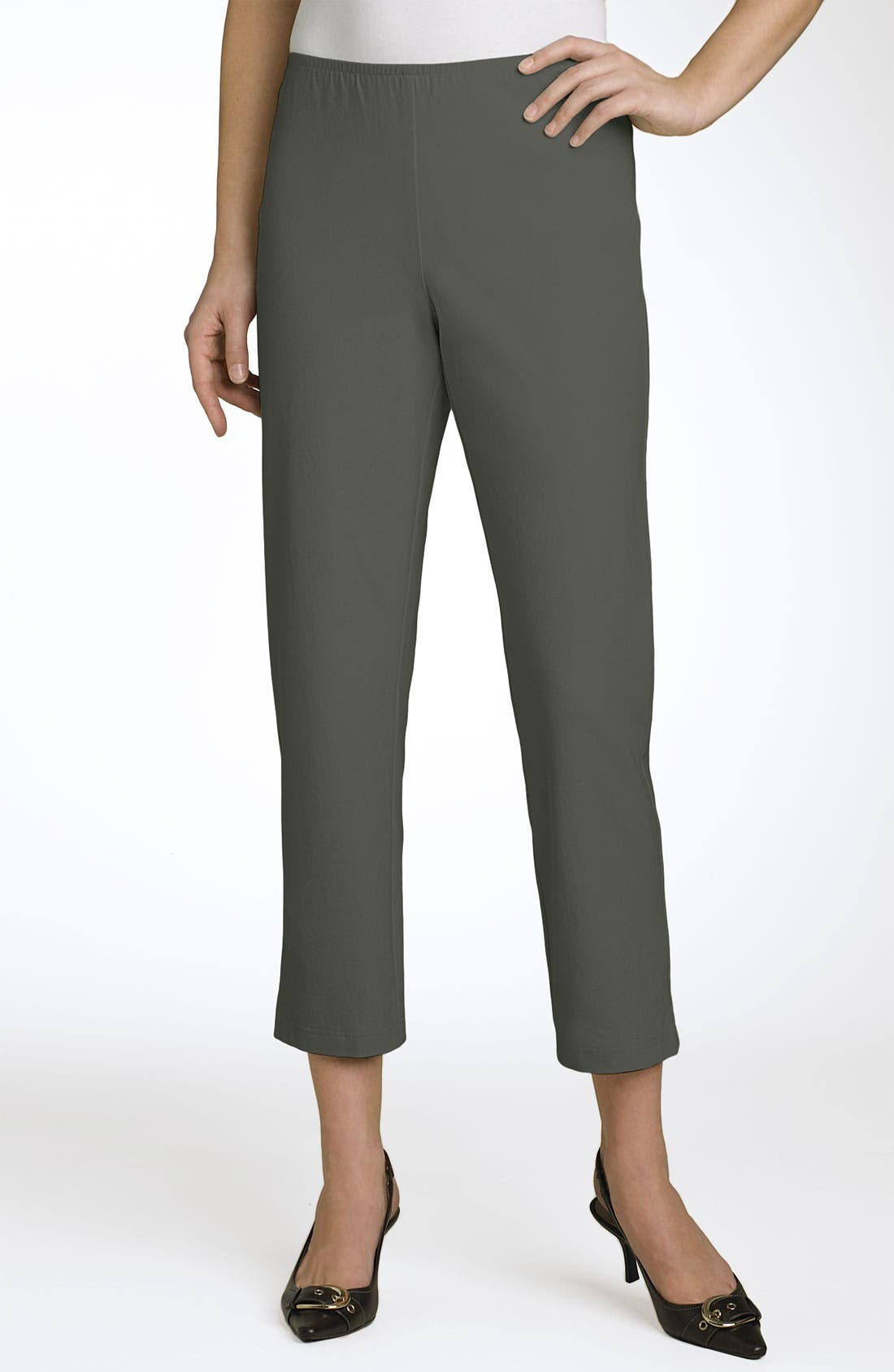 Organic Stretch Cotton Twill Ankle Pants,                             Main thumbnail 14, color,