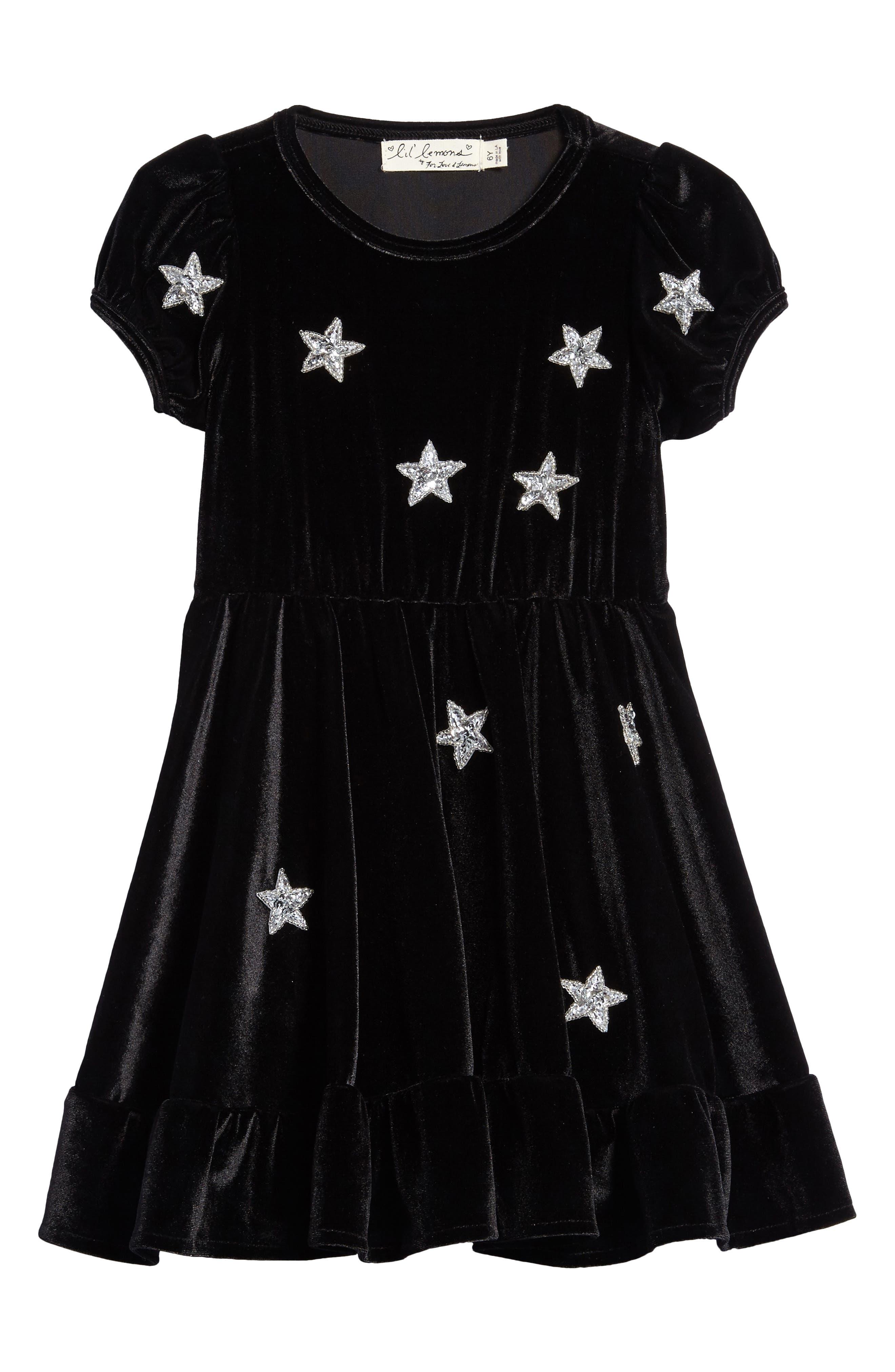 North Star Velvet Dress,                         Main,                         color, 001