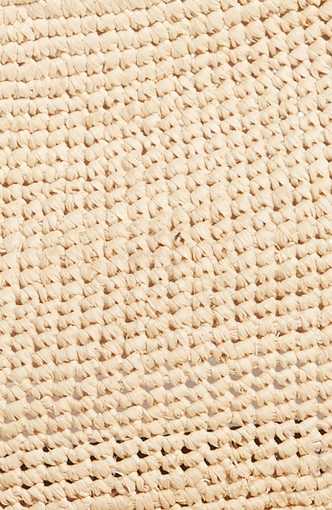 Raffia Crochet Packable Sun Hat,                             Alternate thumbnail 2, color,                             NATURAL