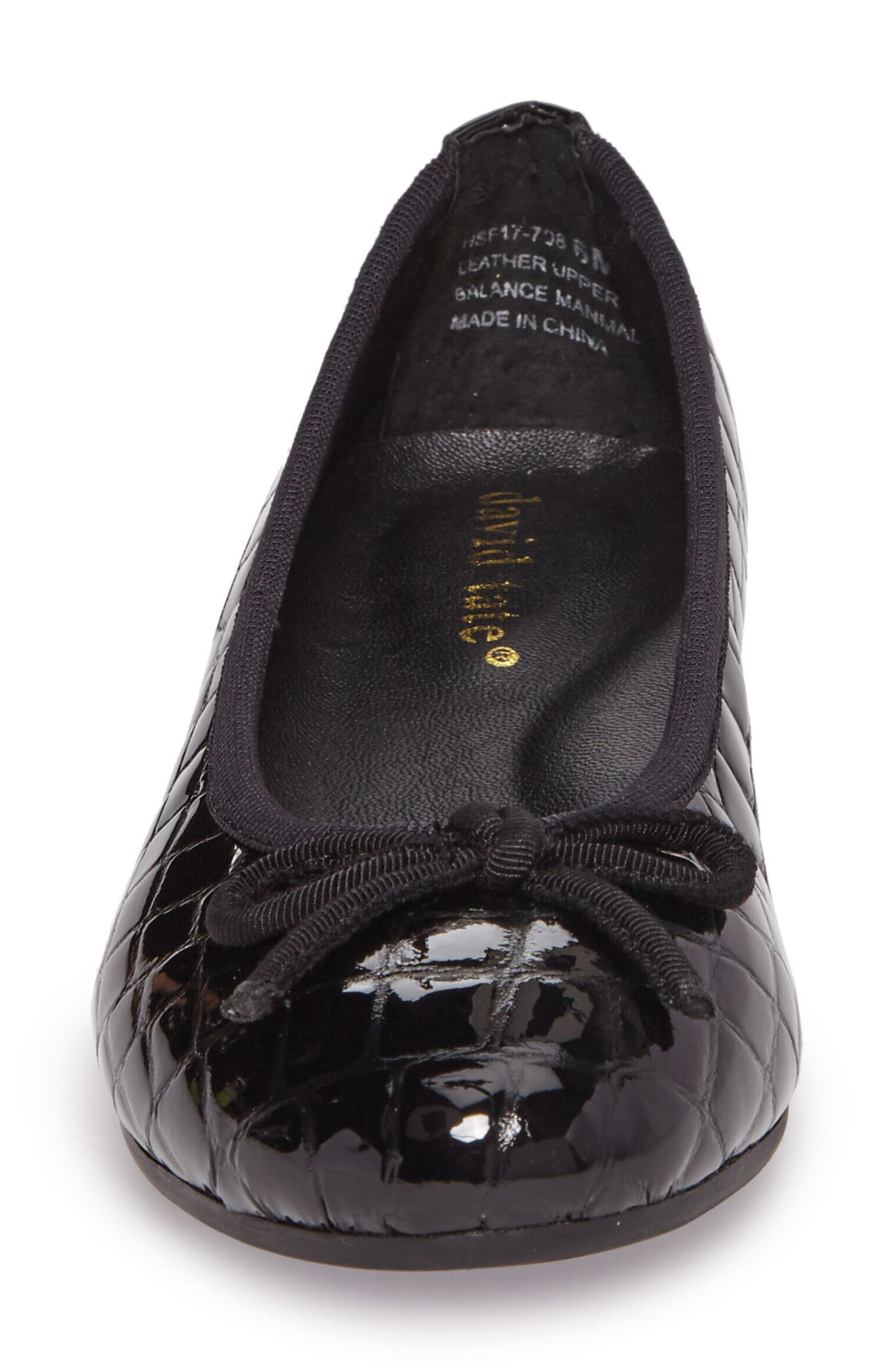 Glow Flat,                             Alternate thumbnail 4, color,                             BLACK PATENT LEATHER