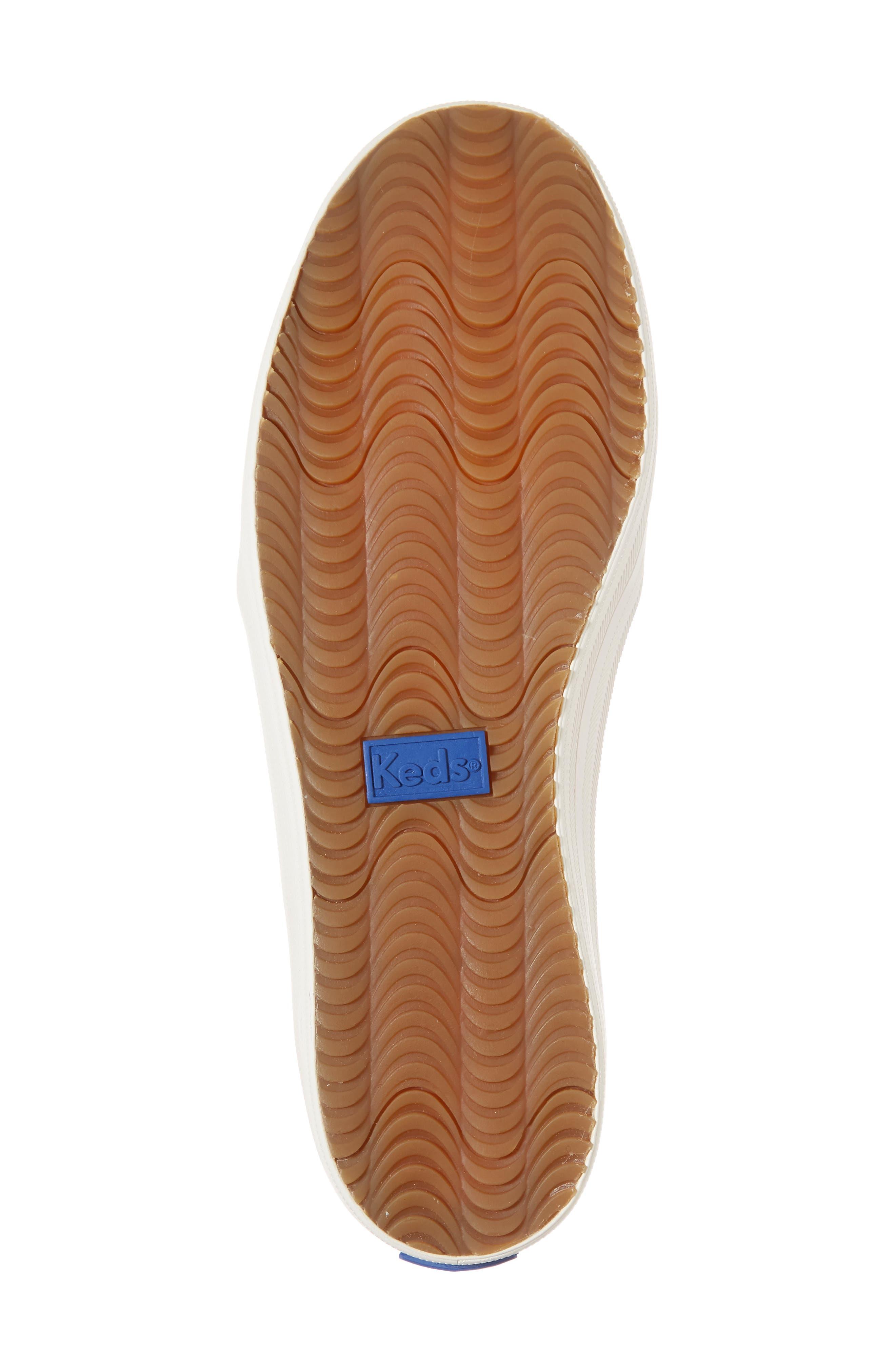 double decker glitter slip-on sneaker,                             Alternate thumbnail 6, color,                             410