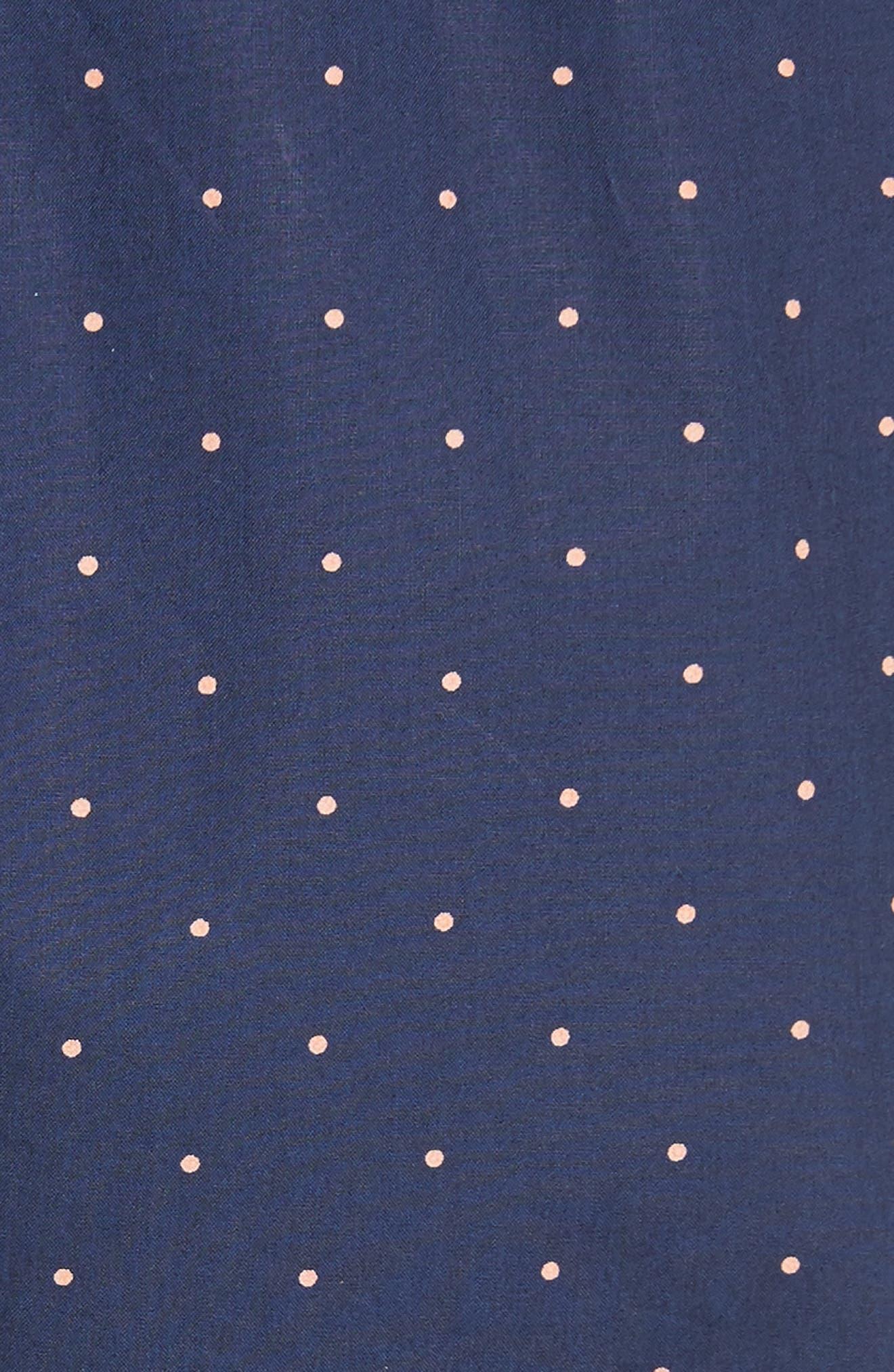 Malachy Ruffle Dot Cotton Dress,                             Alternate thumbnail 5, color,
