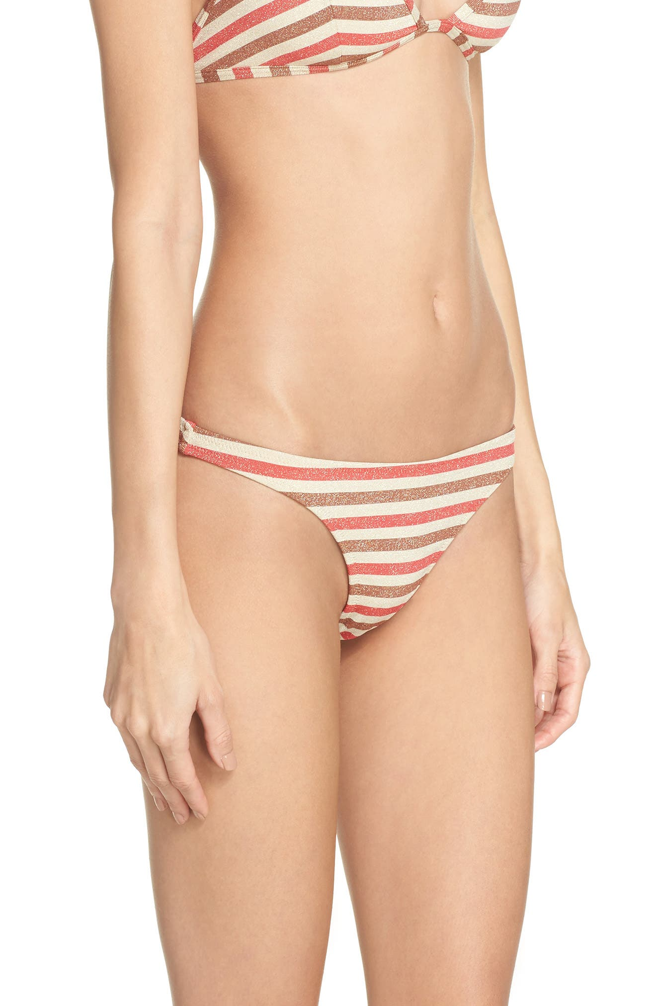 The Wendy Bikini Bottoms,                             Alternate thumbnail 3, color,                             RED/ BROWN MULTI