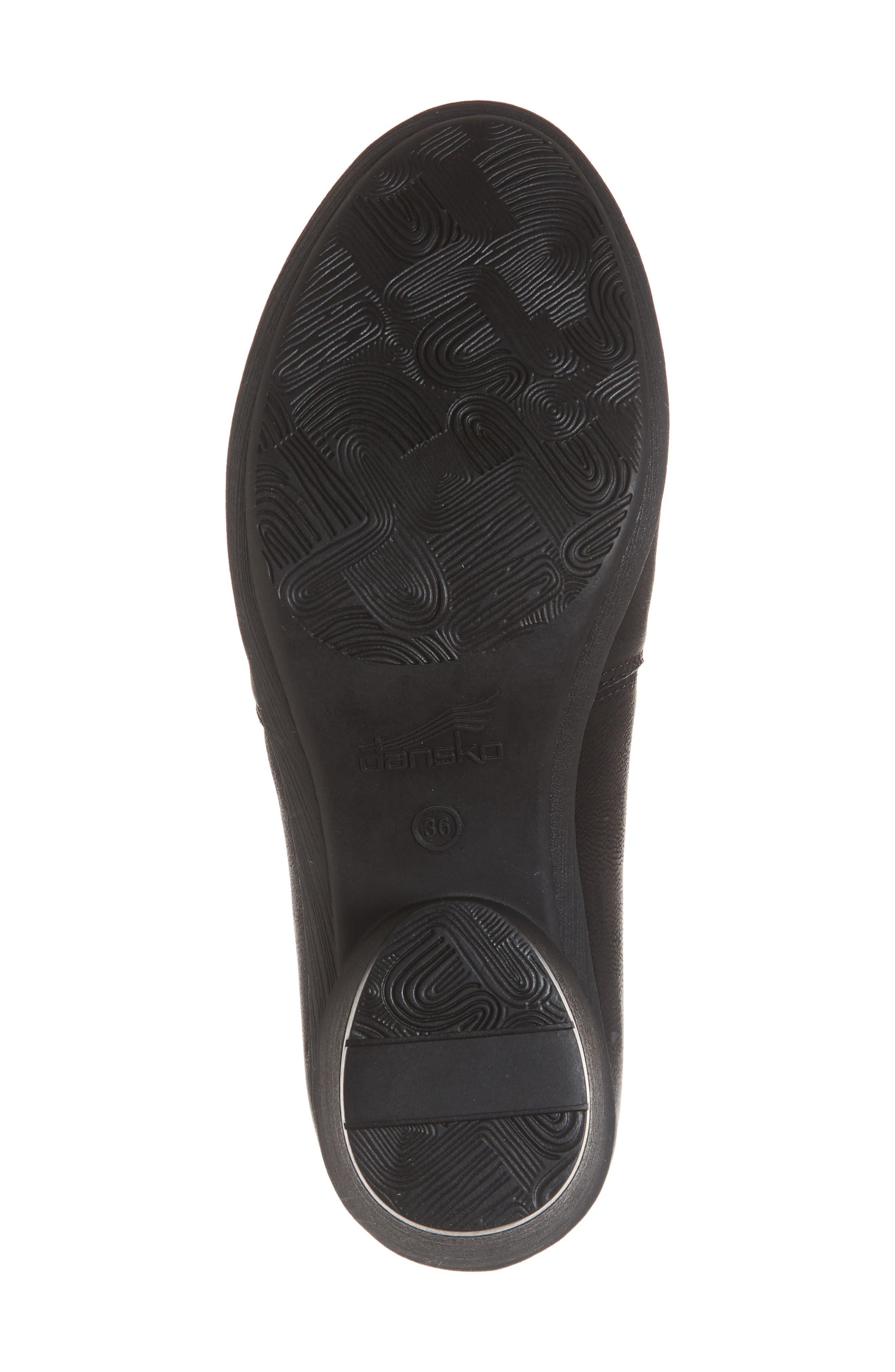 Robin Shoe,                             Alternate thumbnail 6, color,                             BLACK BURNISHED NUBUCK LEATHER