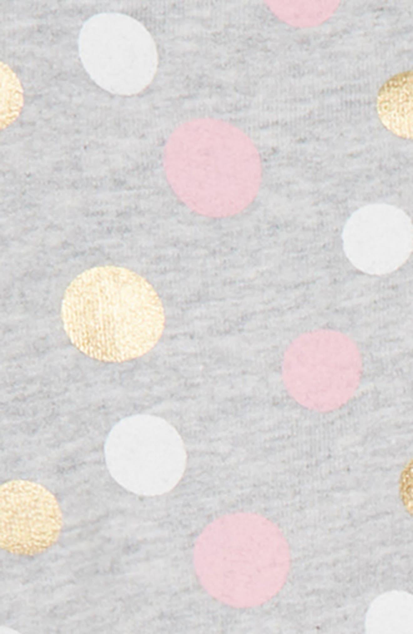 Dots Bodysuit, Leggings & Full Zip Hoodie Set,                             Alternate thumbnail 2, color,                             PINK MULTI