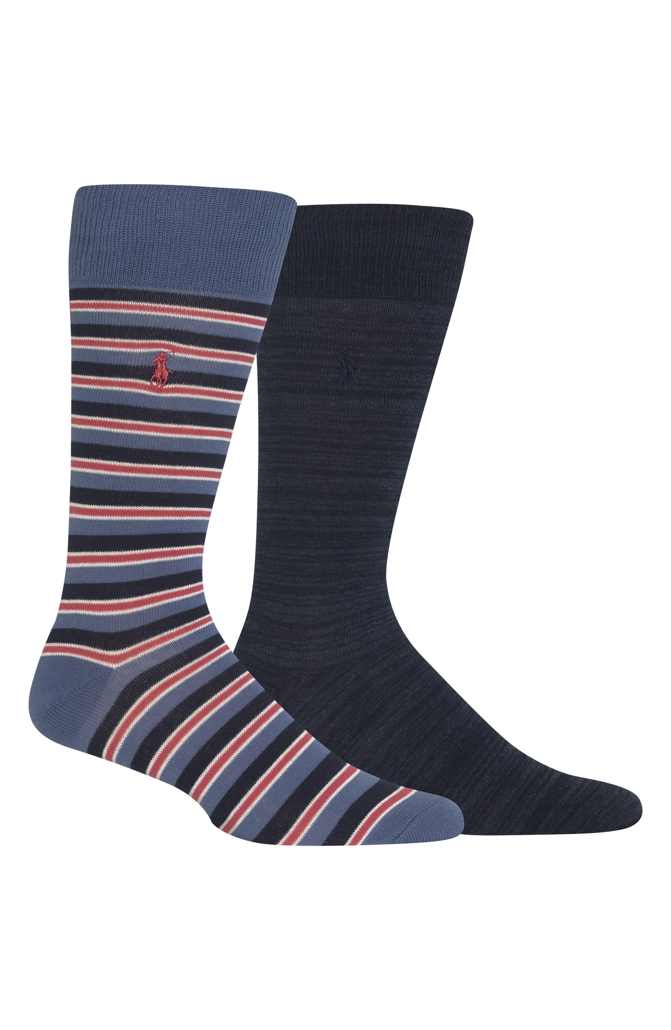 Ralph Lauren 2-Pack Socks,                             Main thumbnail 1, color,