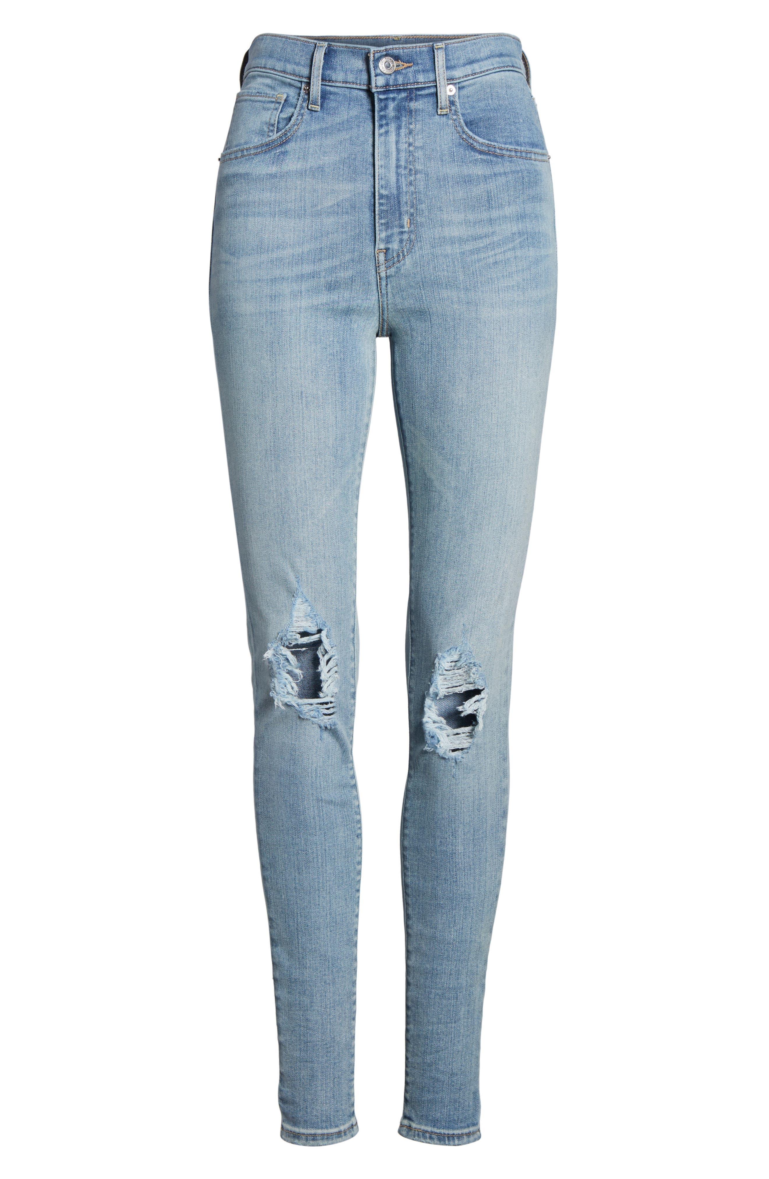Mile High Super Skinny Jeans,                             Alternate thumbnail 7, color,                             450