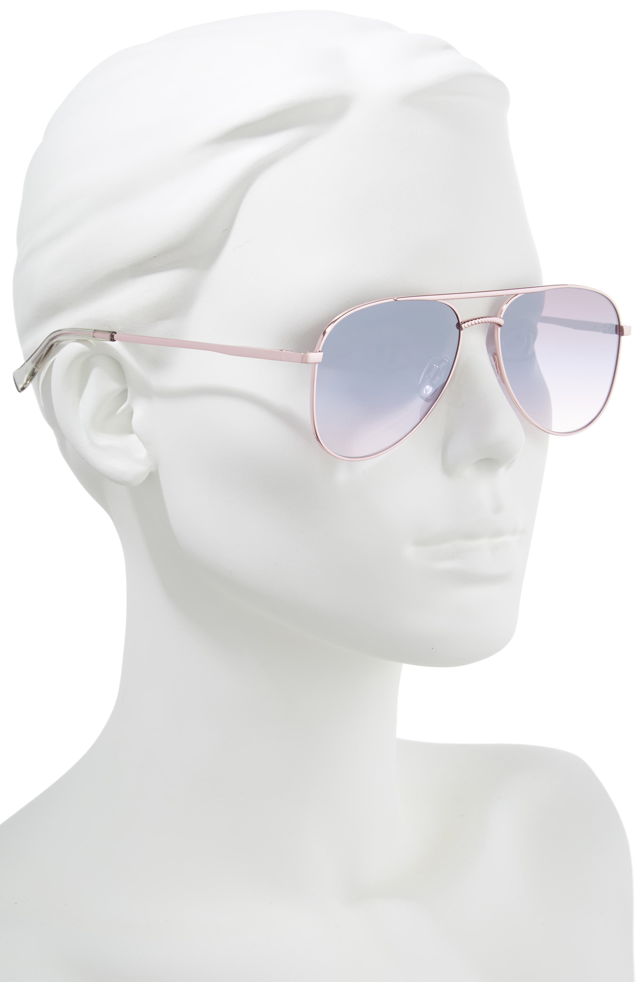 Kingdom 57mm Aviator Sunglasses,                             Alternate thumbnail 2, color,                             ROSE GOLD