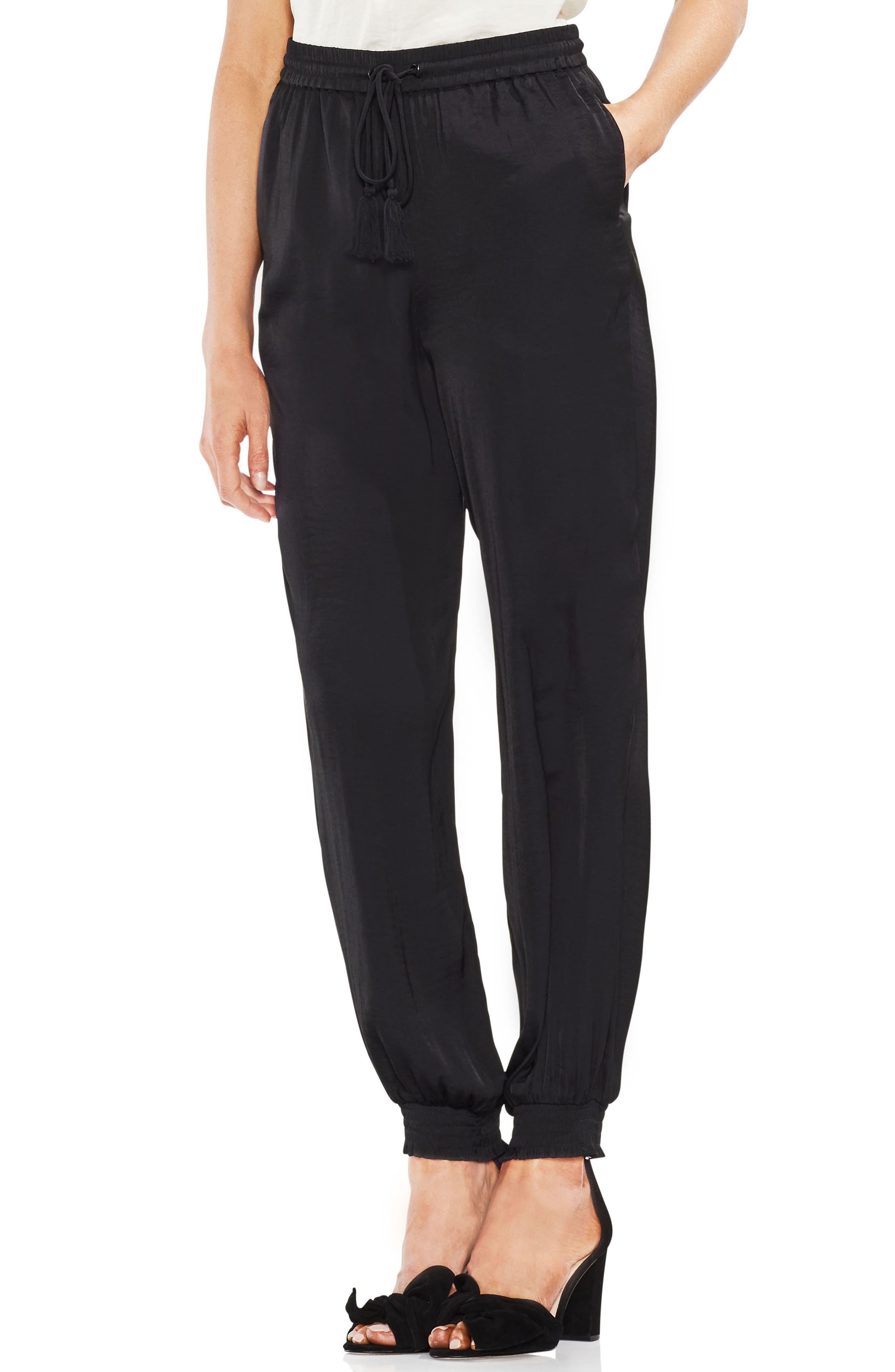Drawstring Waist Pants,                         Main,                         color, 001