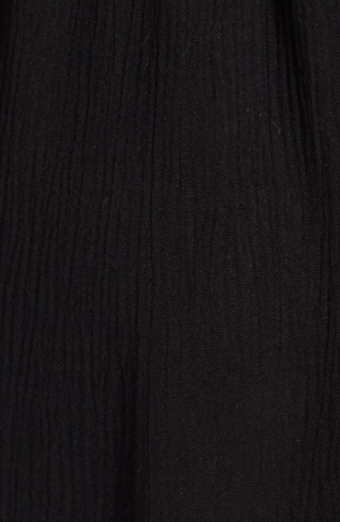 Summer Breeze Off the Shoulder Cover-Up Dress,                             Alternate thumbnail 5, color,                             BLACK