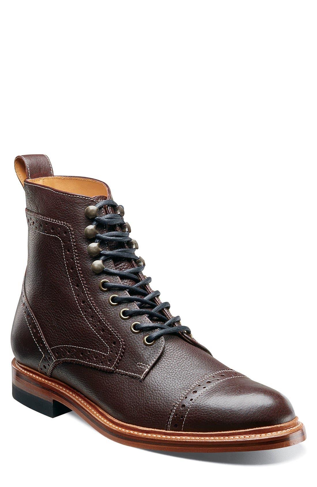 Madison II Cap Toe Boot,                         Main,                         color, 930