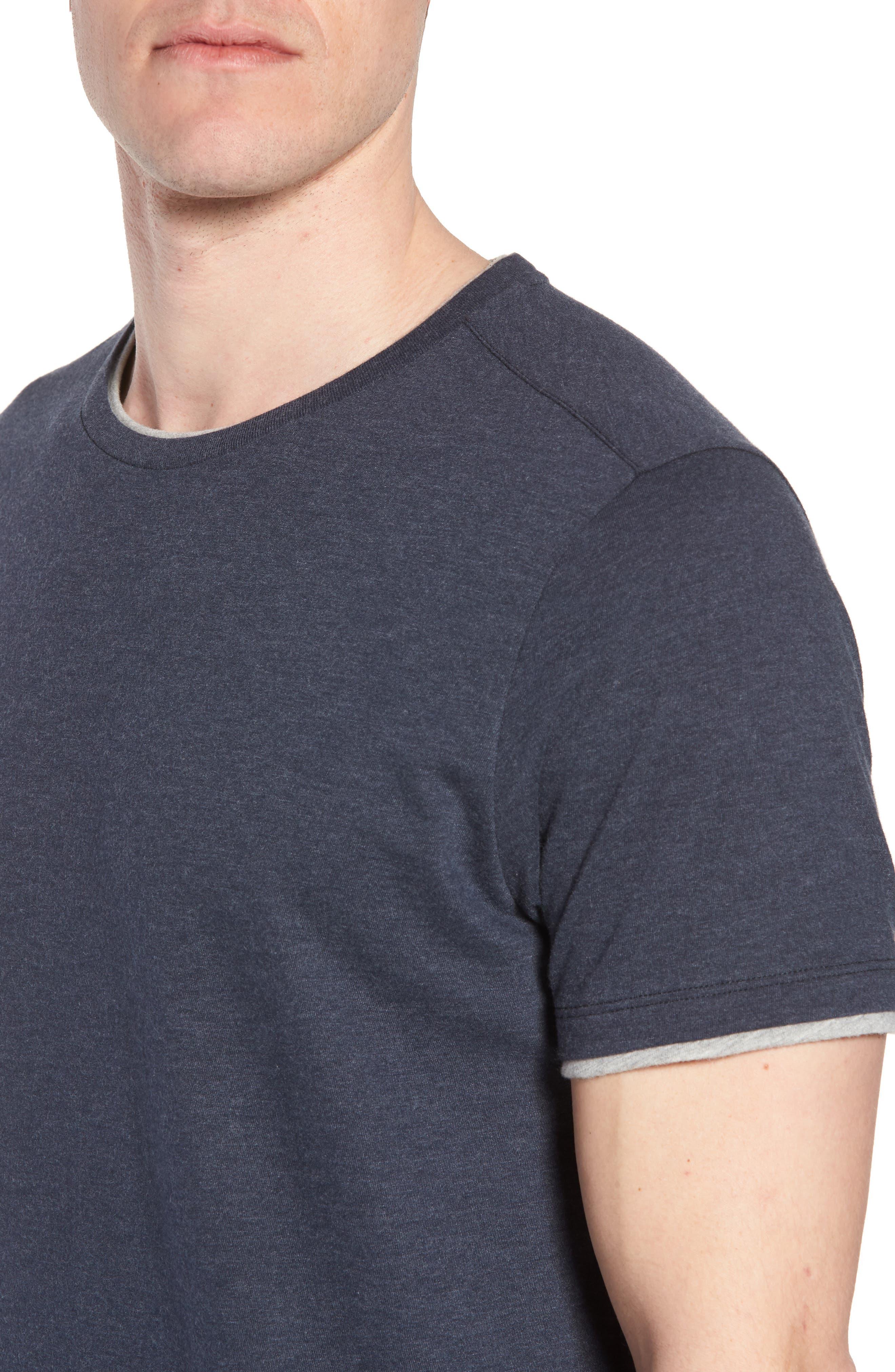 Halifax Crewneck T-Shirt,                             Alternate thumbnail 4, color,                             NAVY