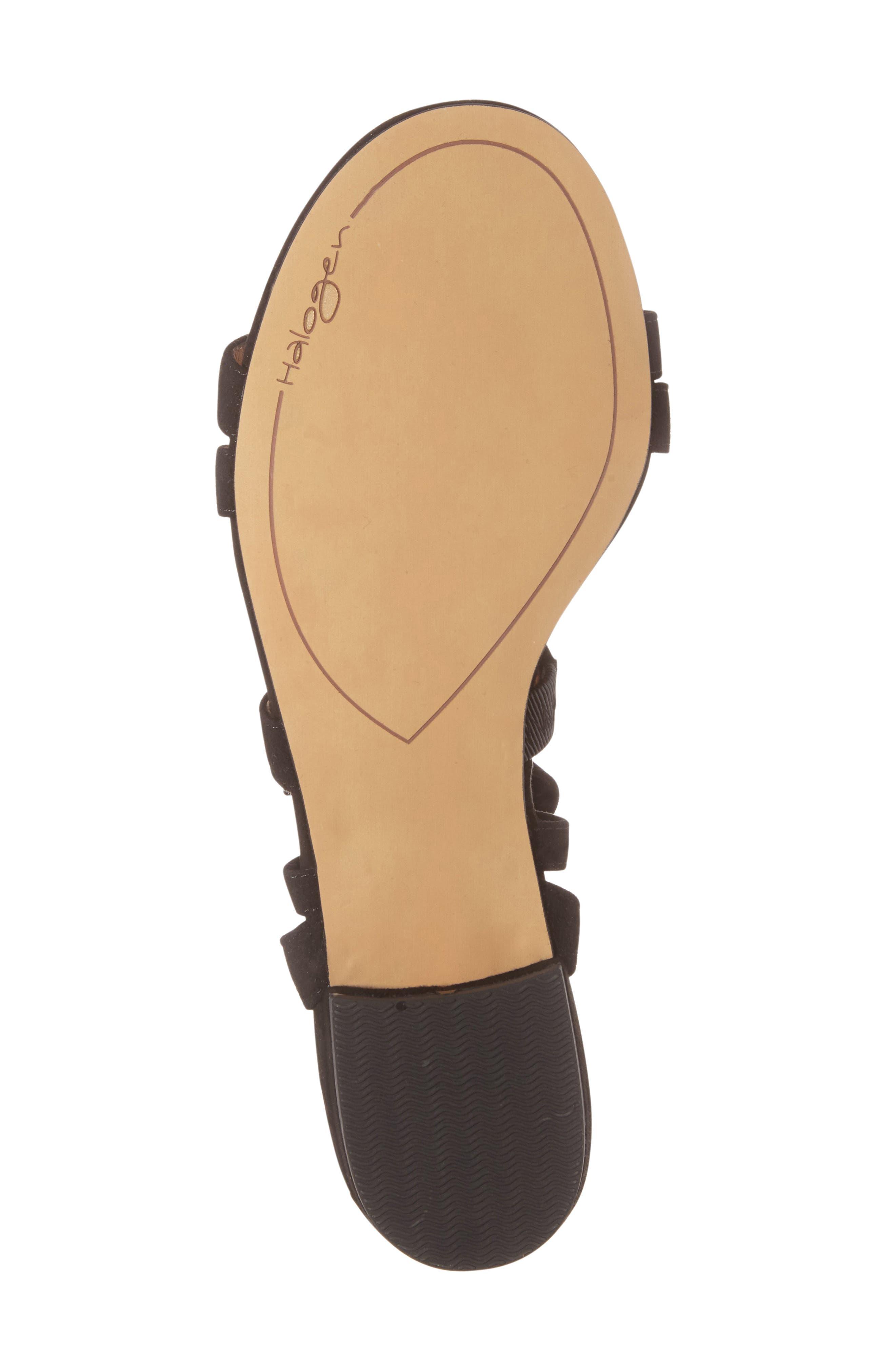 Frances Ankle Wrap Sandal,                             Alternate thumbnail 5, color,                             001