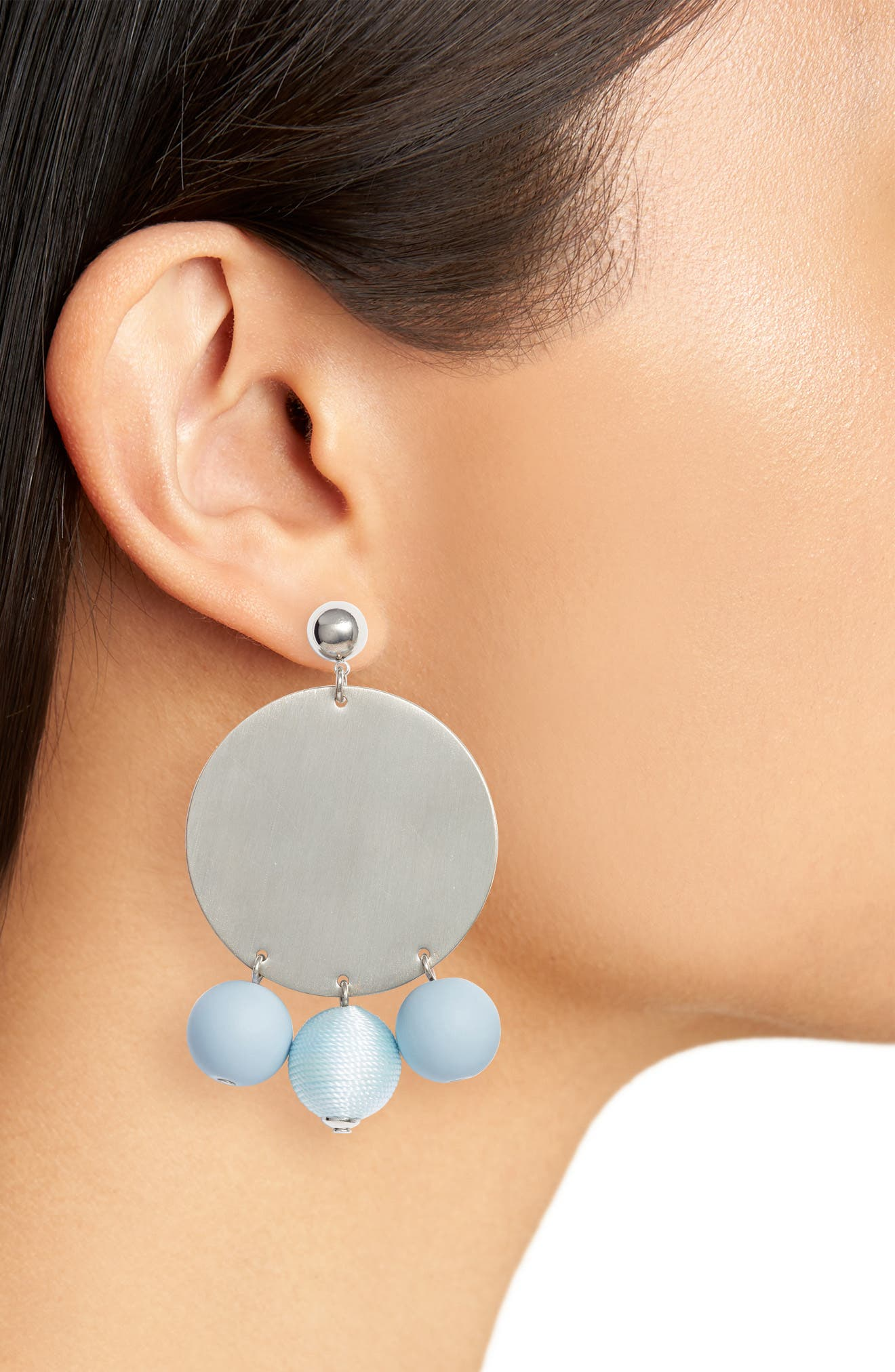 Threaded Sphere Statement Earrings,                             Alternate thumbnail 2, color,                             040