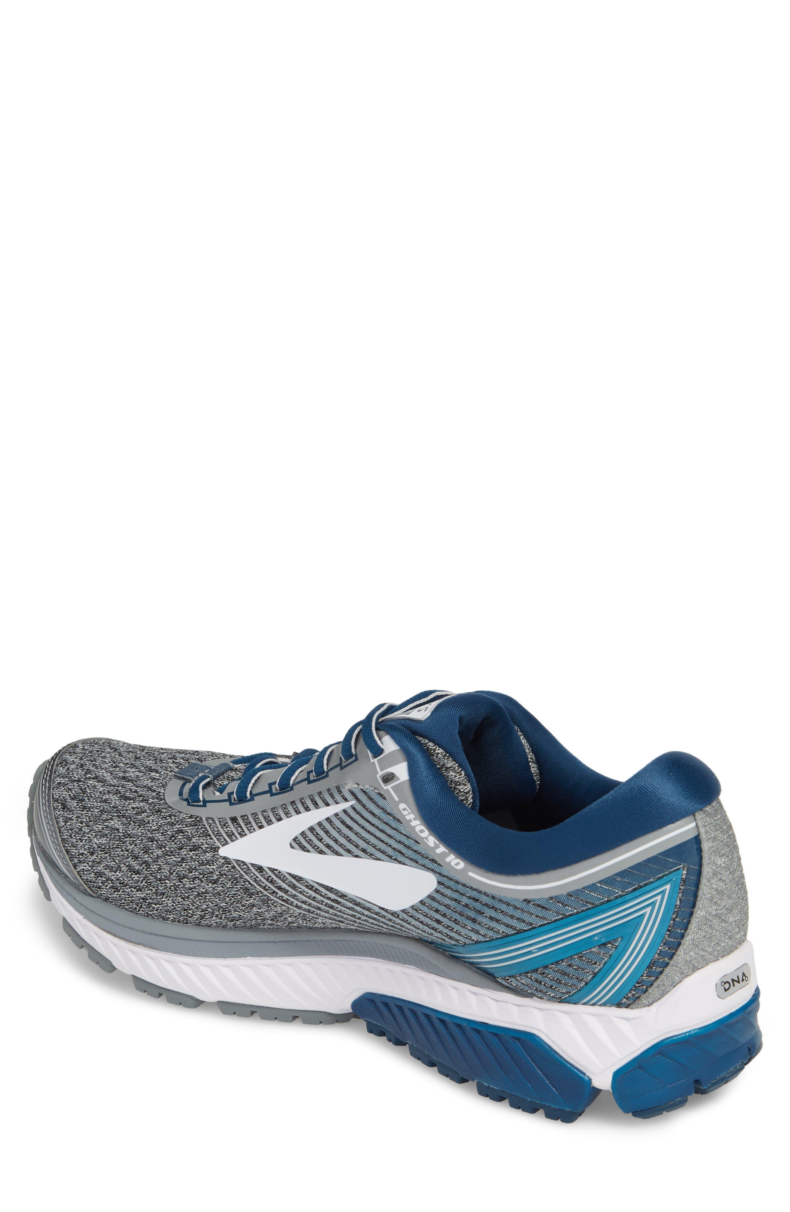 Ghost 10 Running Shoe,                             Alternate thumbnail 2, color,                             SILVER/ BLUE/ WHITE