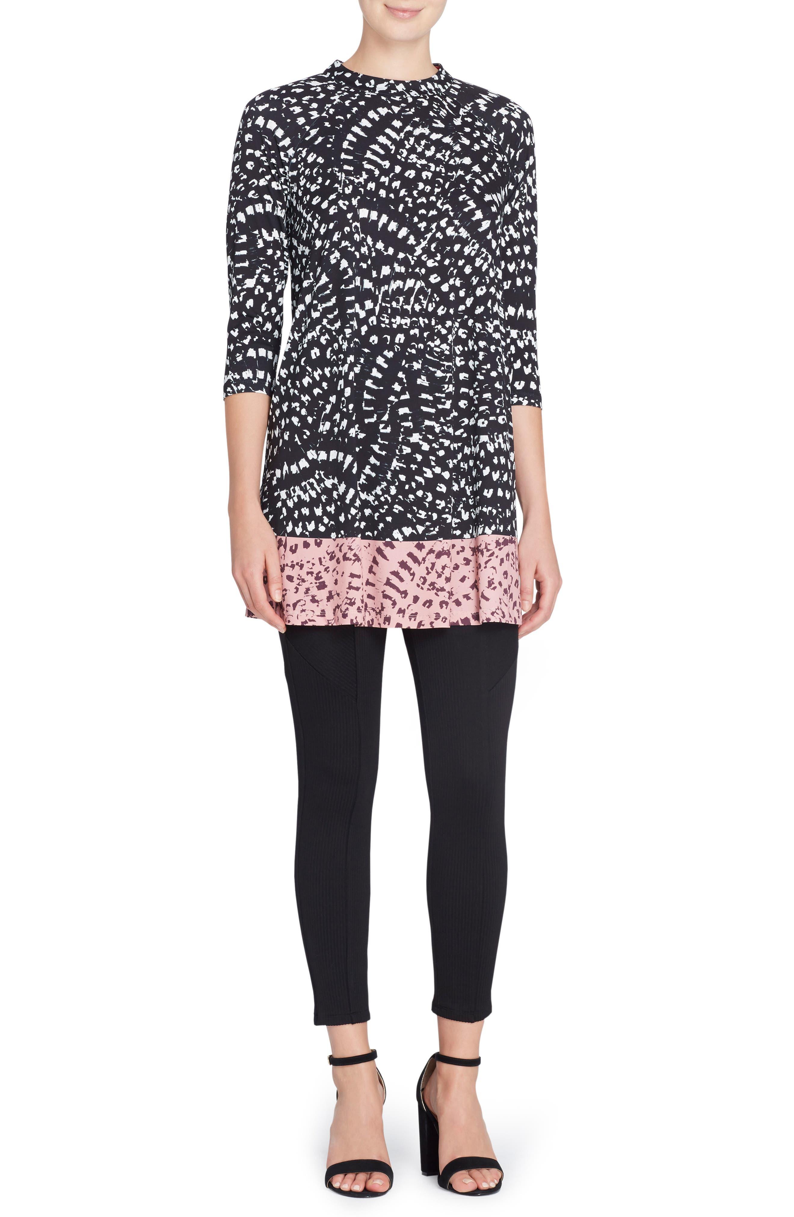 'Hayden' Mixed Print Minidress,                         Main,                         color, 011