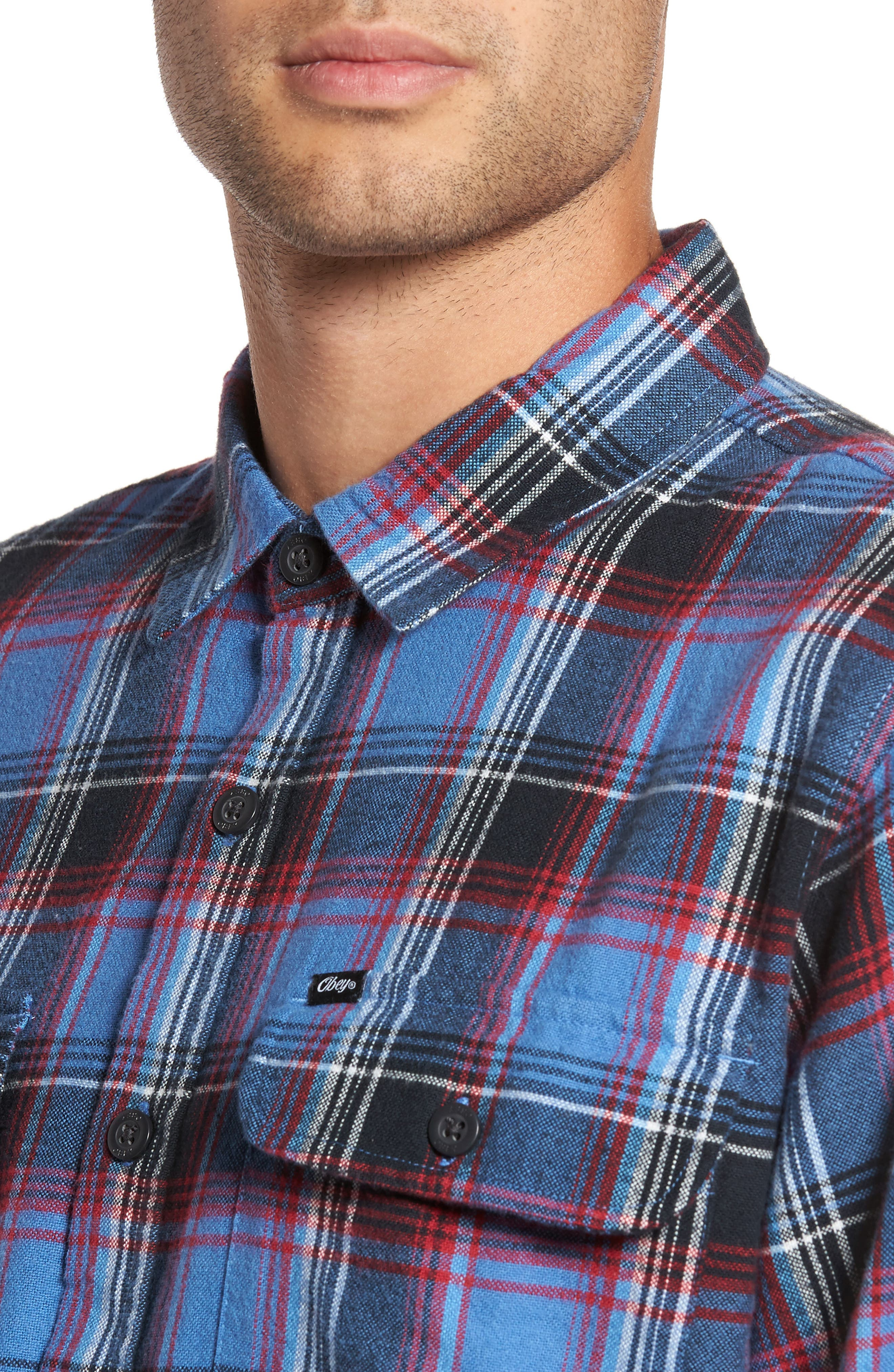 Marvyn Plaid Woven Shirt,                             Alternate thumbnail 4, color,                             410