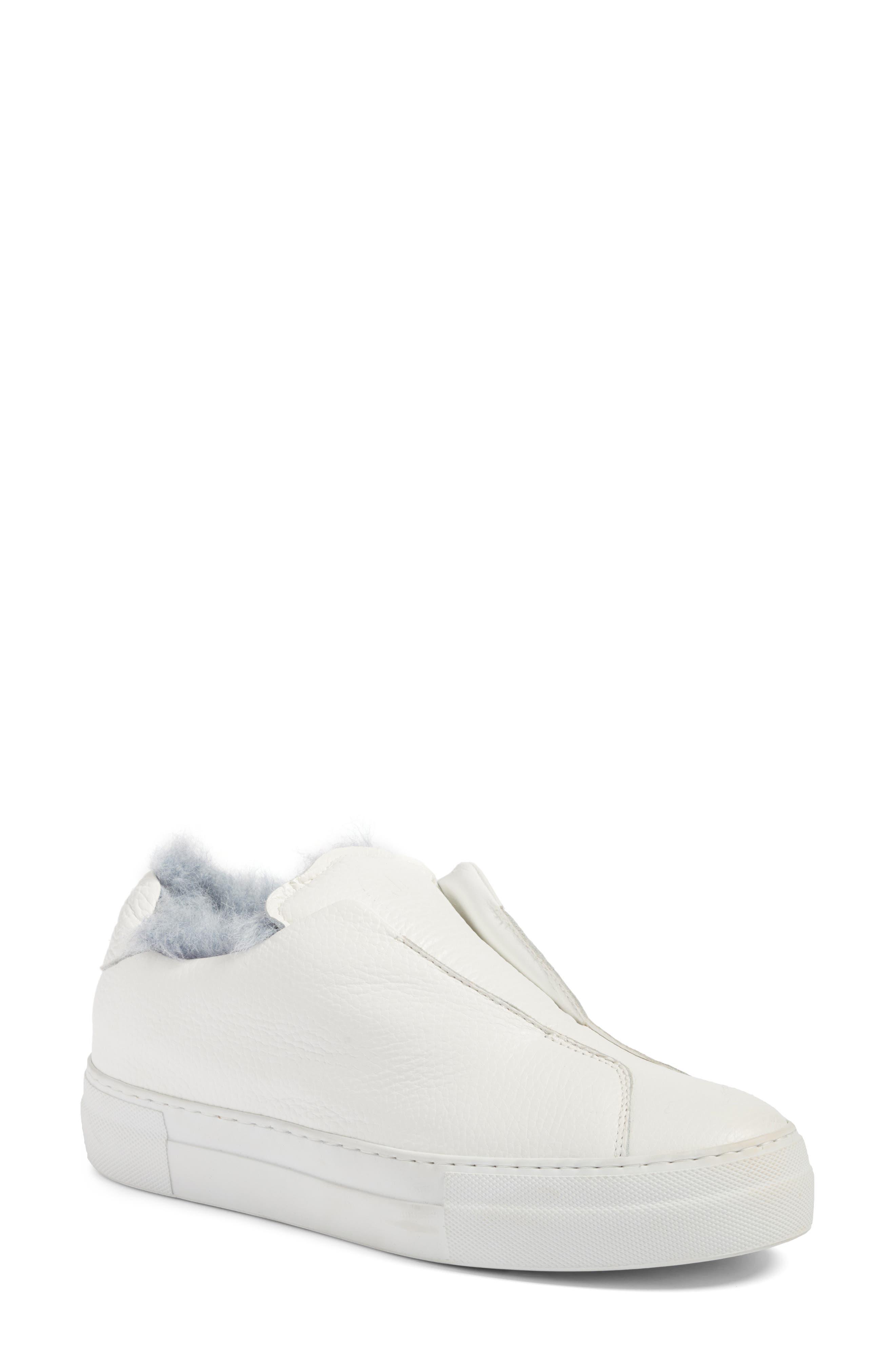 Faux Fur Slip-On Sneaker,                             Main thumbnail 1, color,