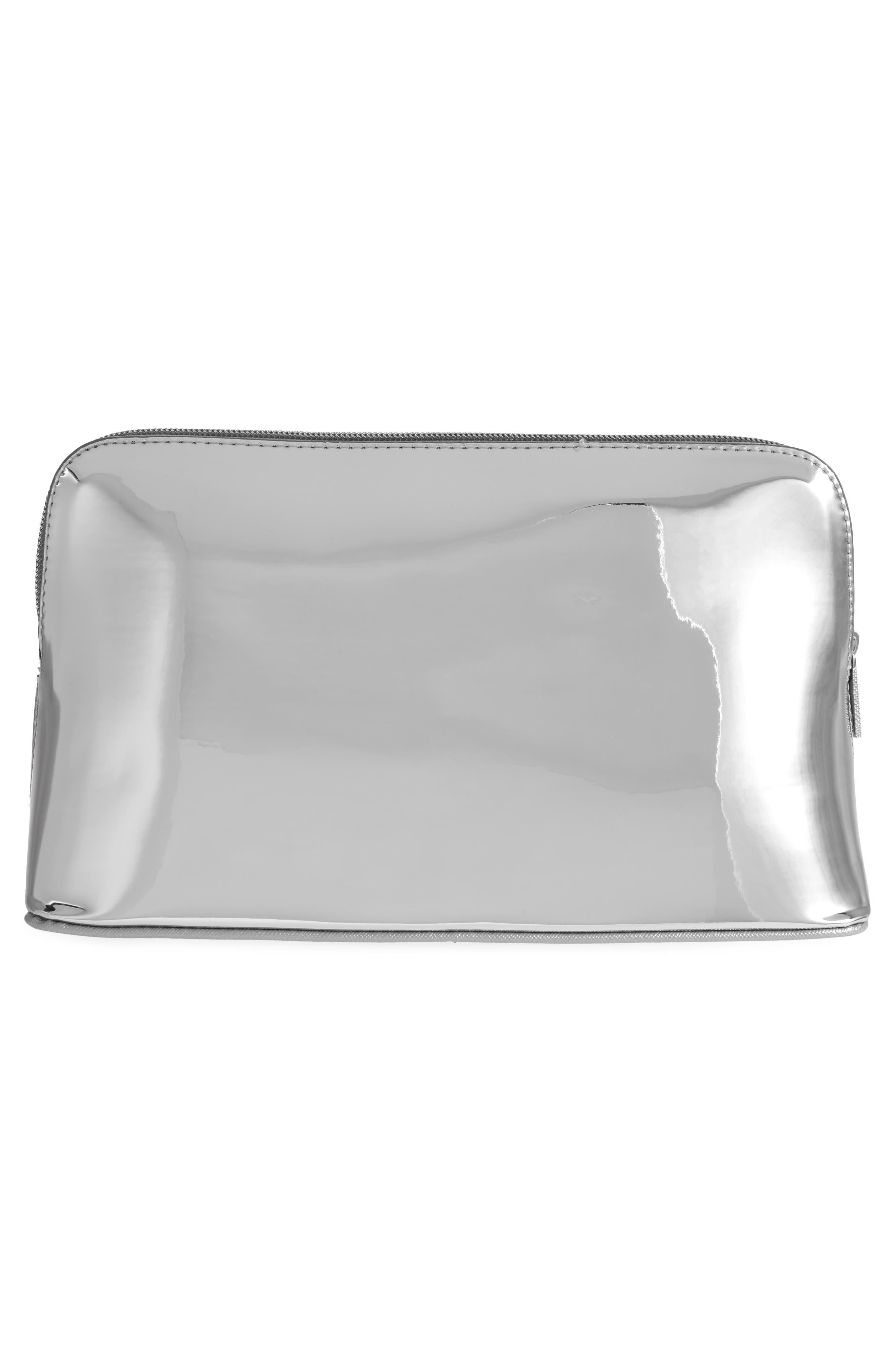 Lauran Mirrored Wash Bag,                             Alternate thumbnail 3, color,