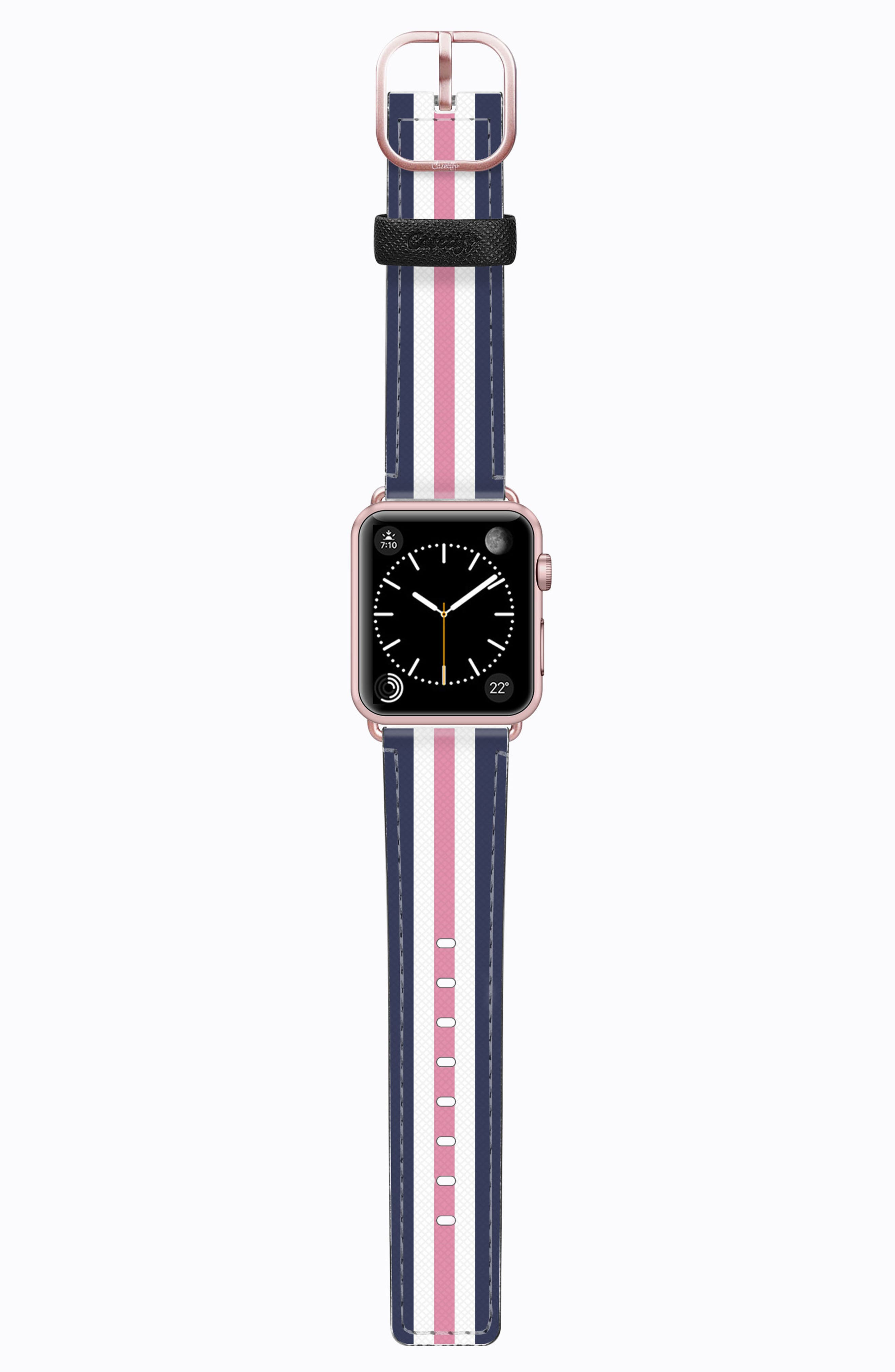 Saffiano Faux Leather Apple Watch Strap,                             Main thumbnail 5, color,