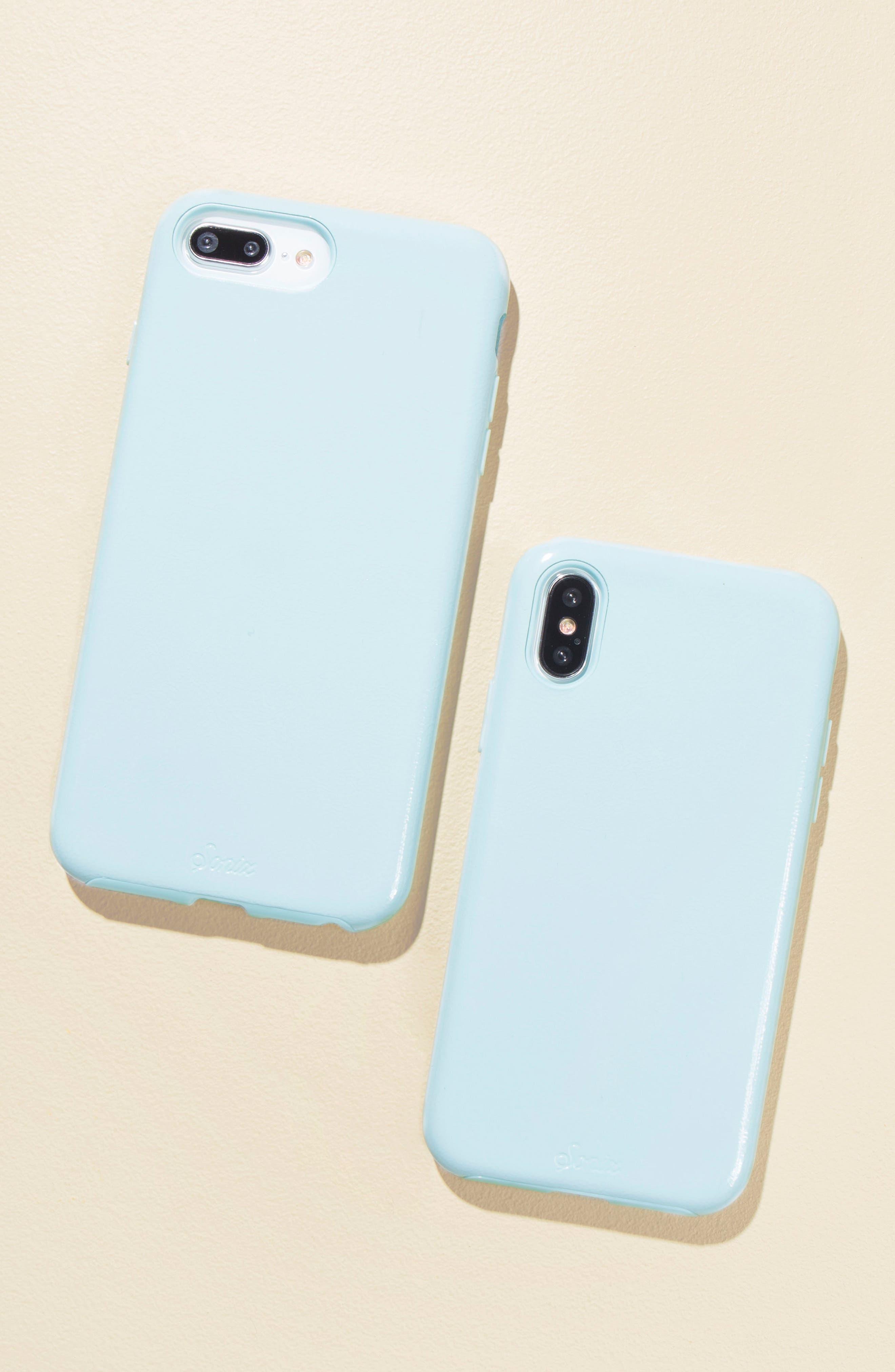 Cherry Faux Leather iPhone 6/6s/7/8 Plus Case,                             Alternate thumbnail 15, color,