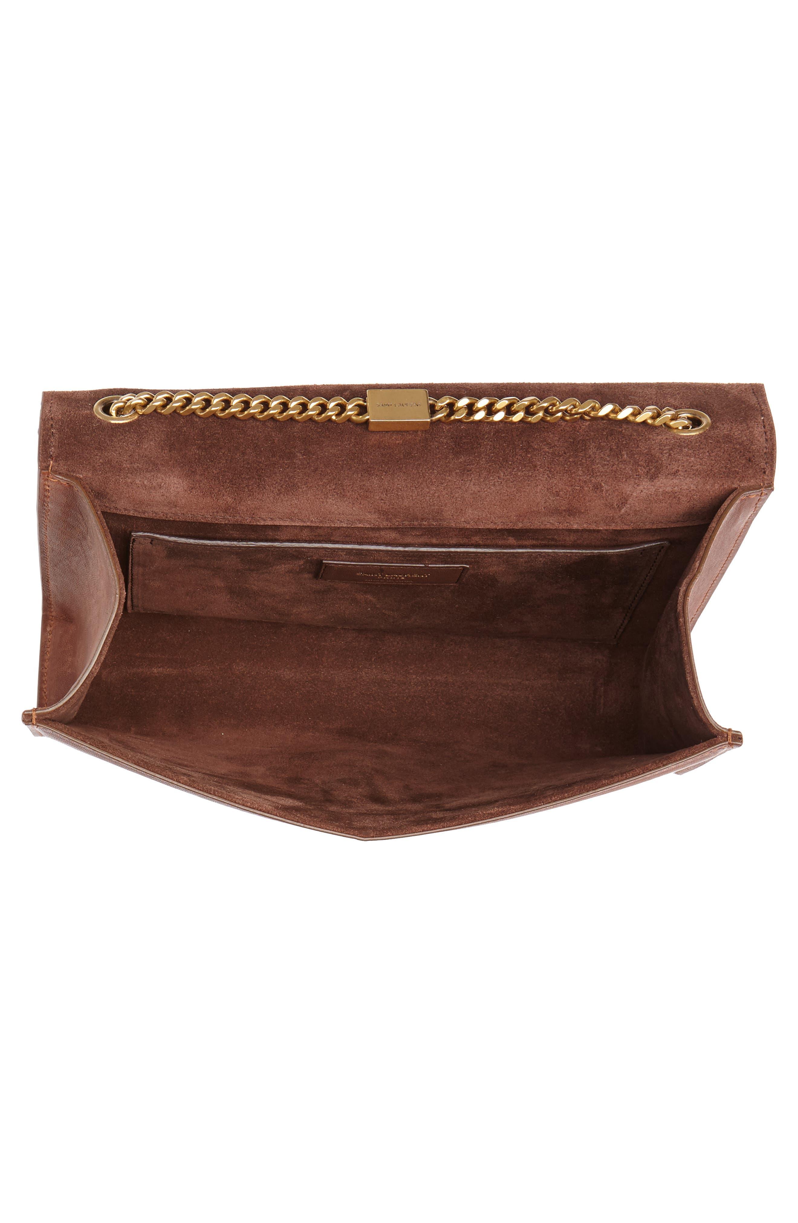 Medium Kate Studded Leather Crossbody Bag,                             Alternate thumbnail 4, color,                             BROWN MULTI