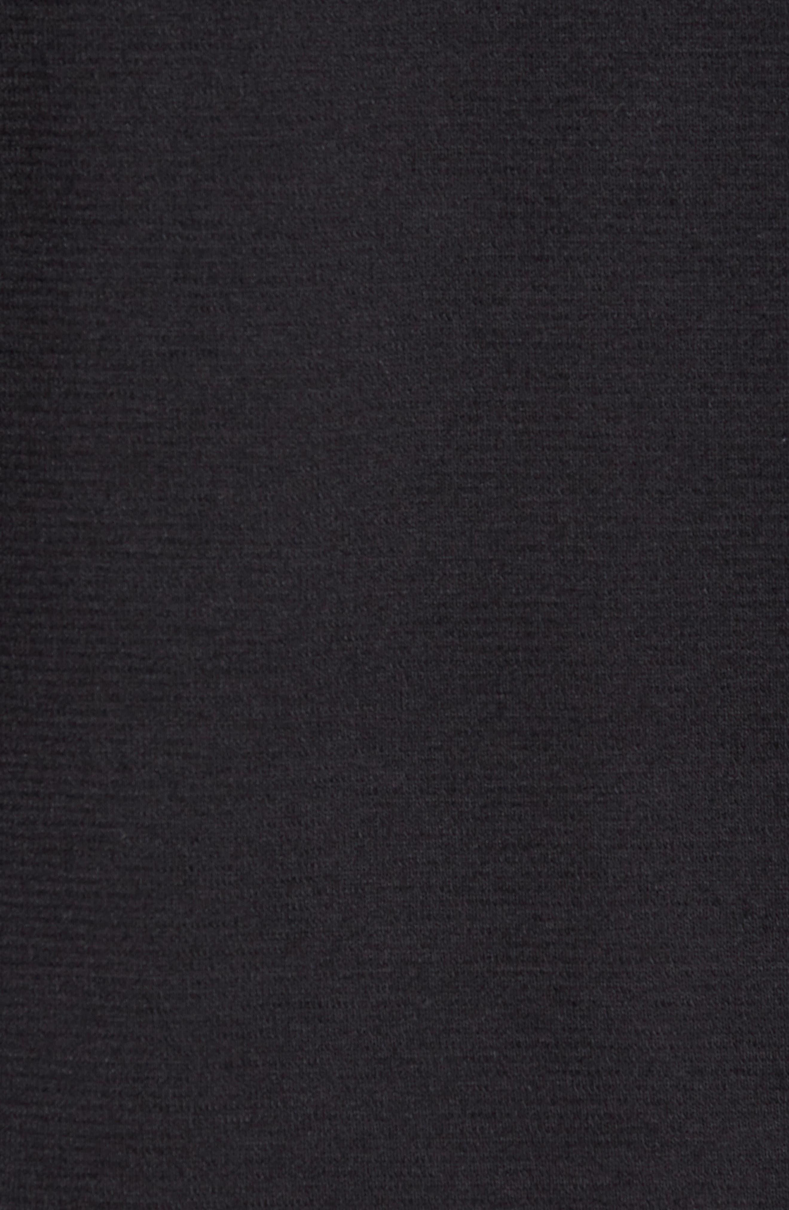 Crewneck Sweater,                             Alternate thumbnail 6, color,                             BLACK CAVIAR