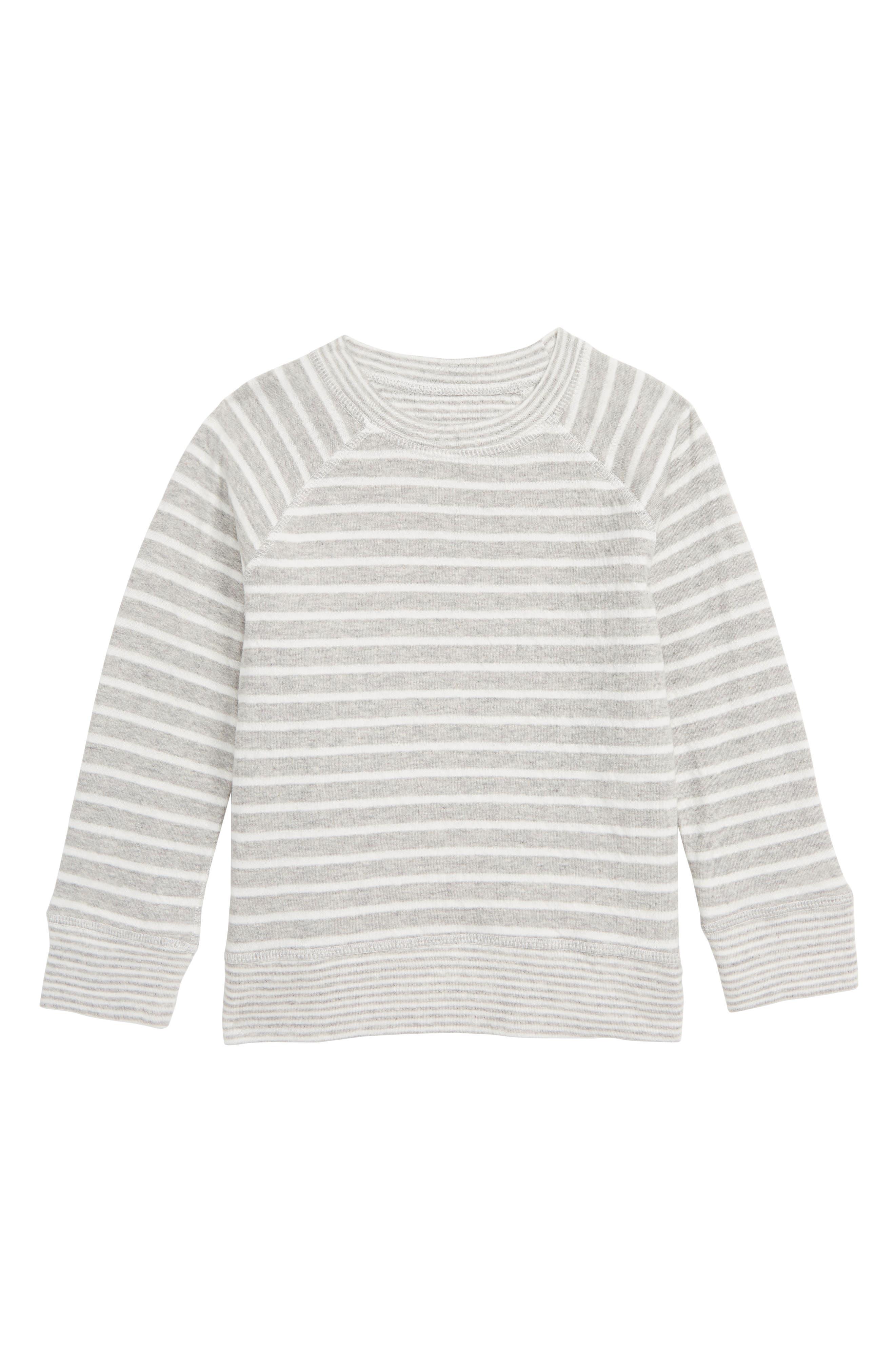 Double Layer Reversible T-Shirt, Main, color, GREY MARL/ ECRU