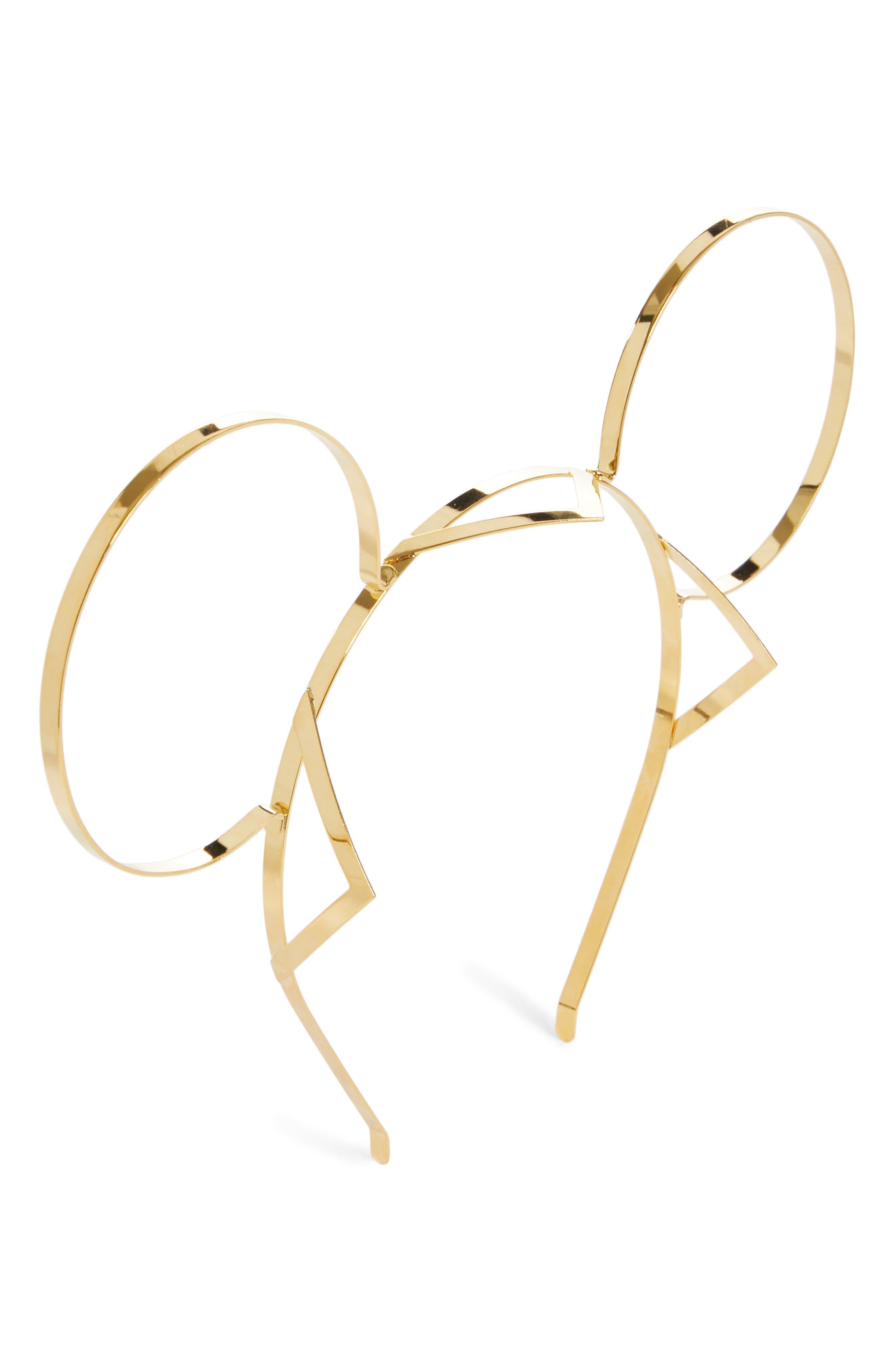 GIGI BURRIS MILLINERY x Disney Mickey Signature Mickey Gold Ears Headband, Main, color, 710