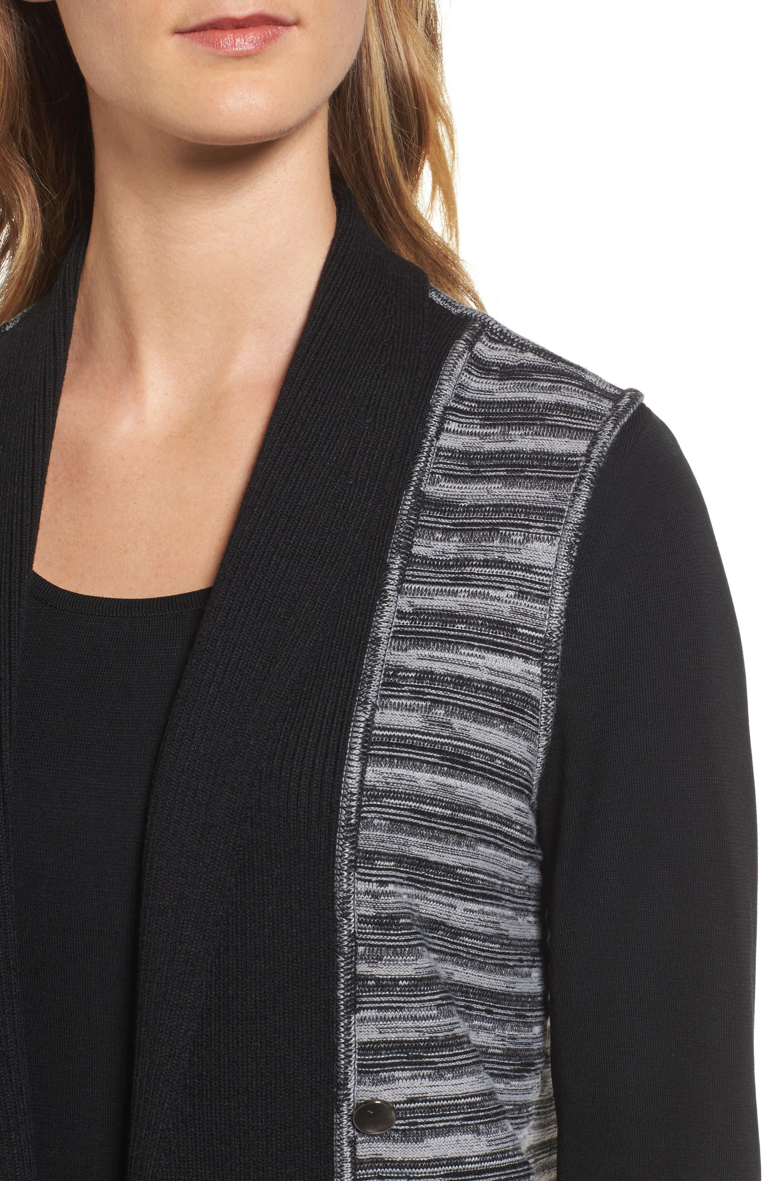 Ribbed Tweed Vest,                             Alternate thumbnail 4, color,