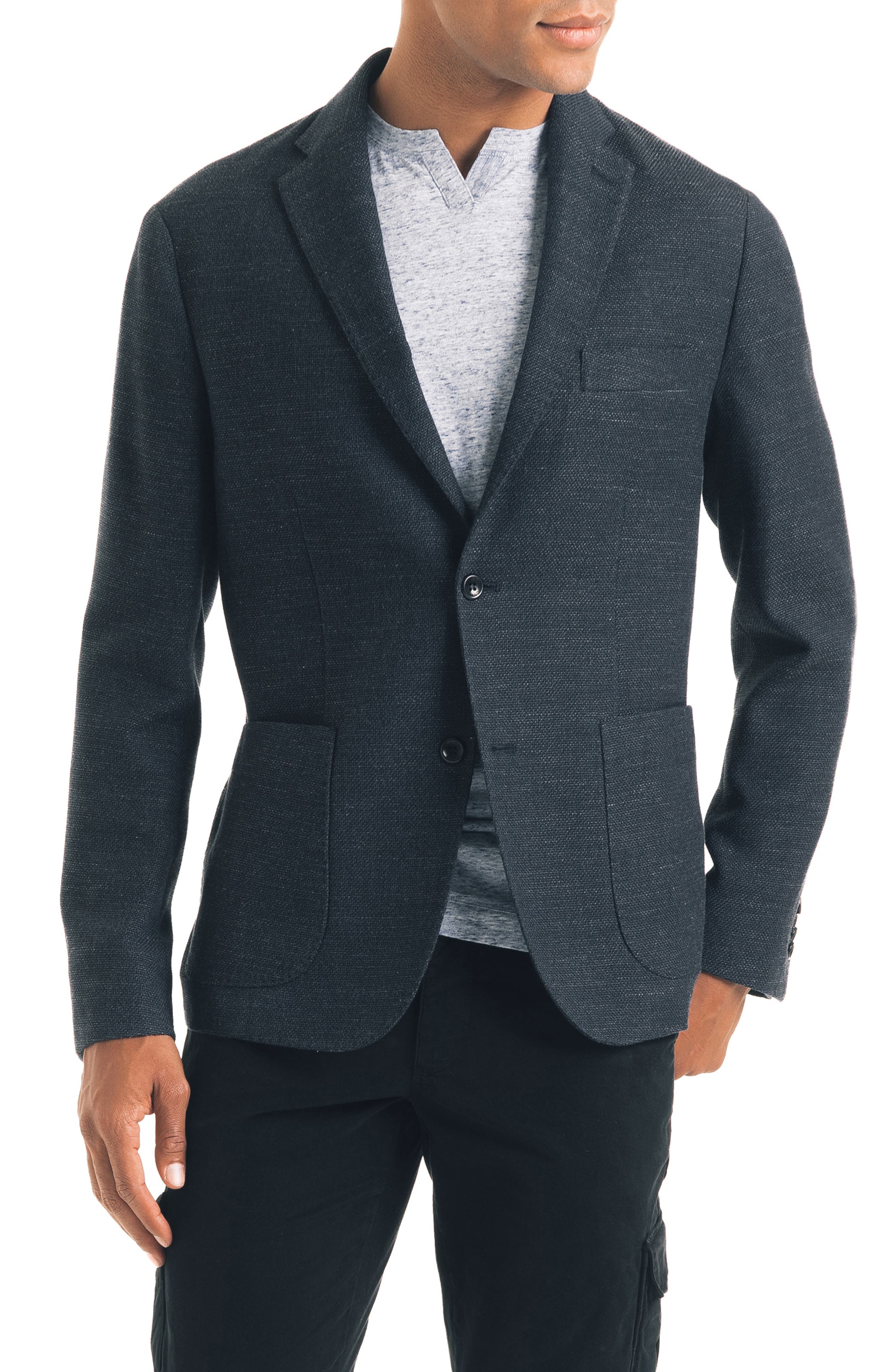 GOOD MAN BRAND Slim Fit Soft Sport Coat in Charcoal