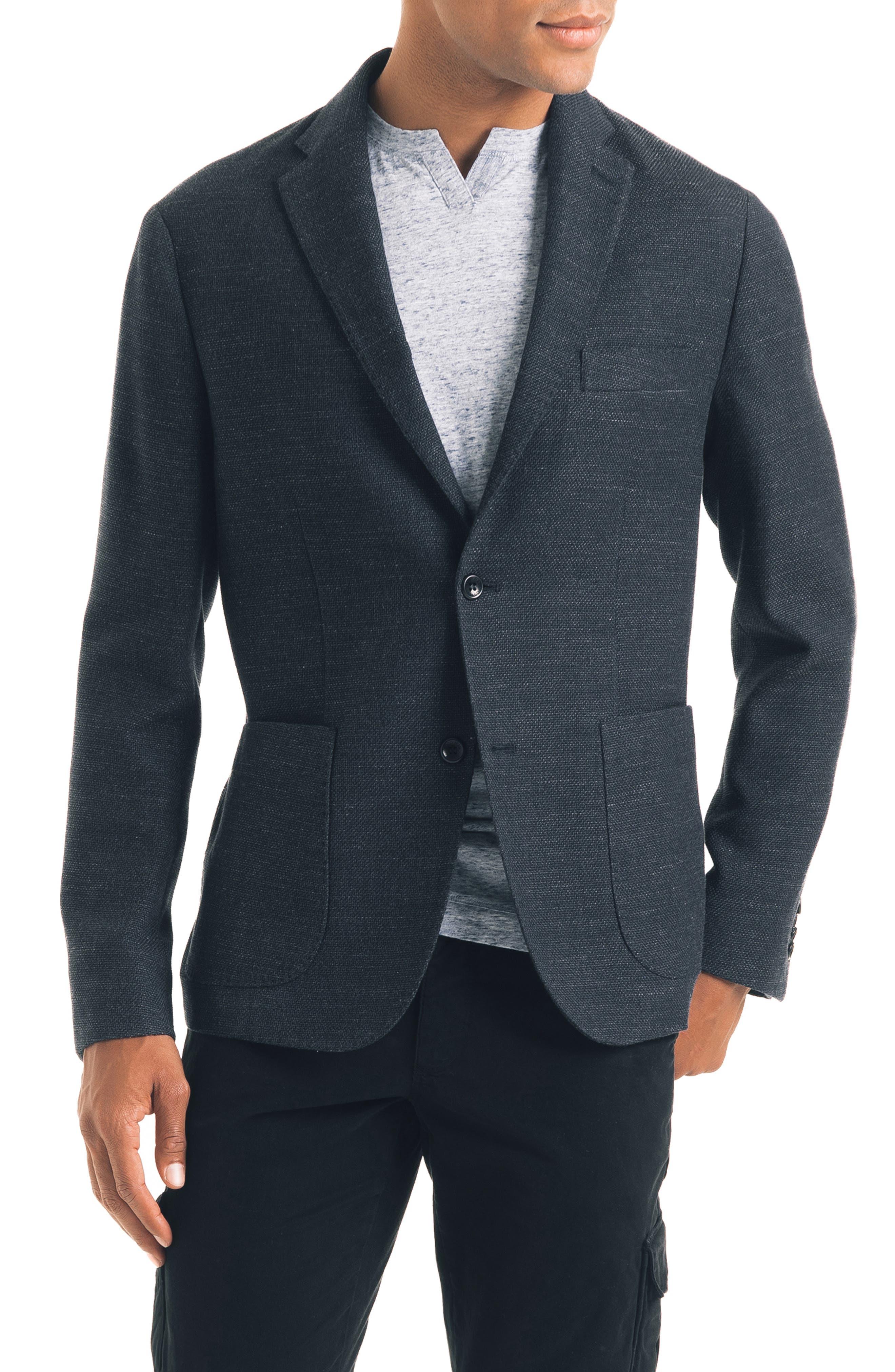 Slim Fit Soft Sport Coat,                         Main,                         color, CHARCOAL