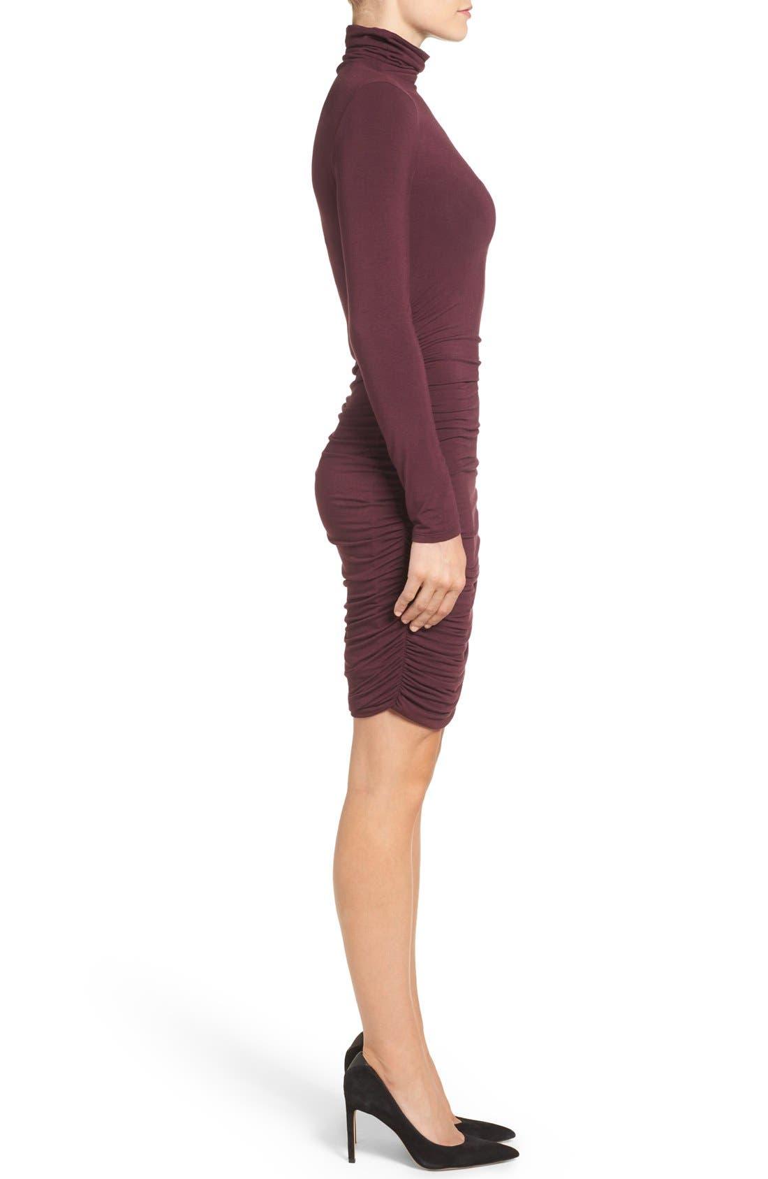 Side Ruched Turtleneck Dress,                             Alternate thumbnail 13, color,