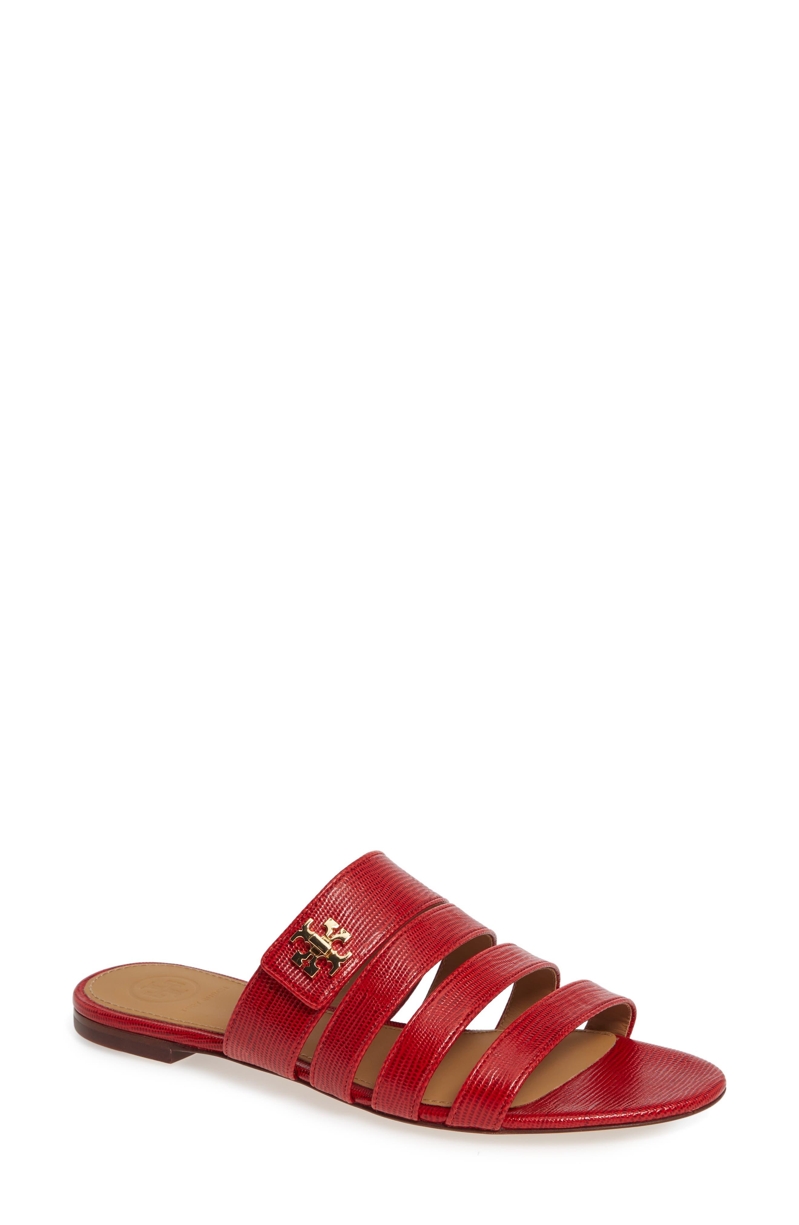Tory Burch Kira Slide Sandal- Red