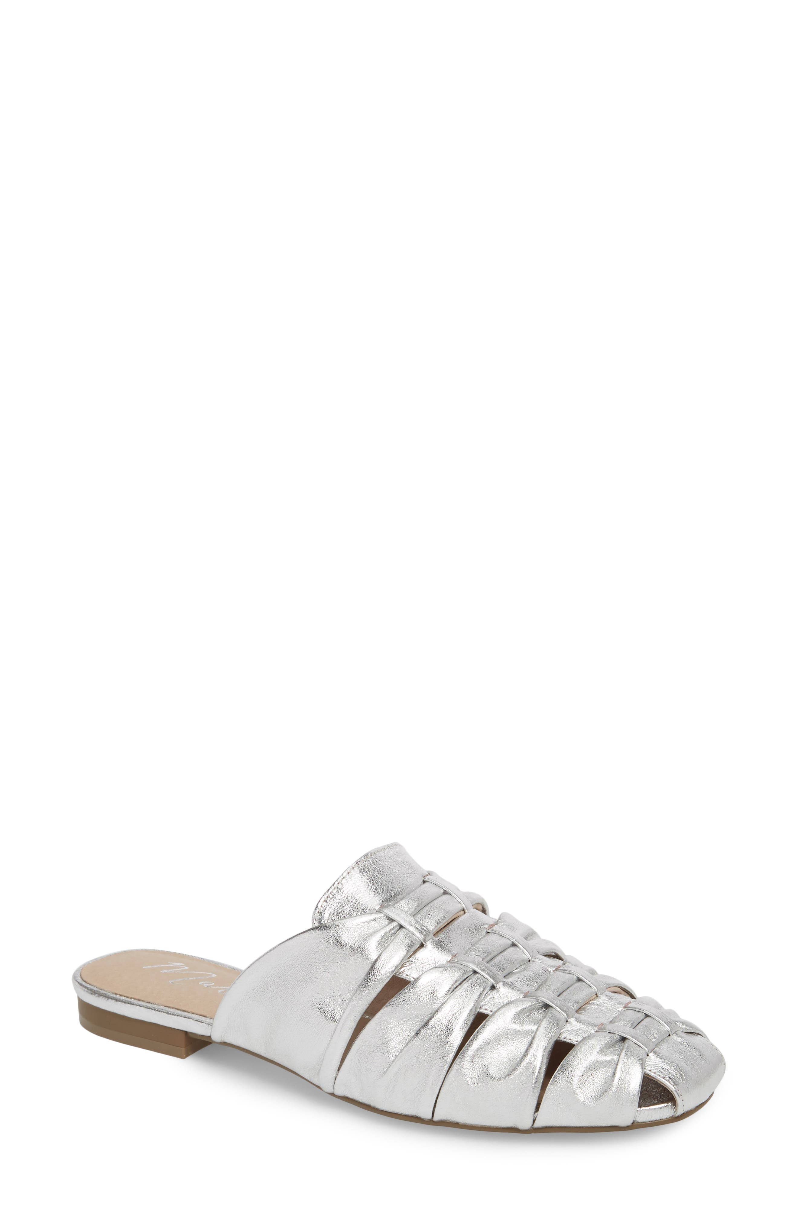 Evangeline Mule,                         Main,                         color, SILVER LEATHER