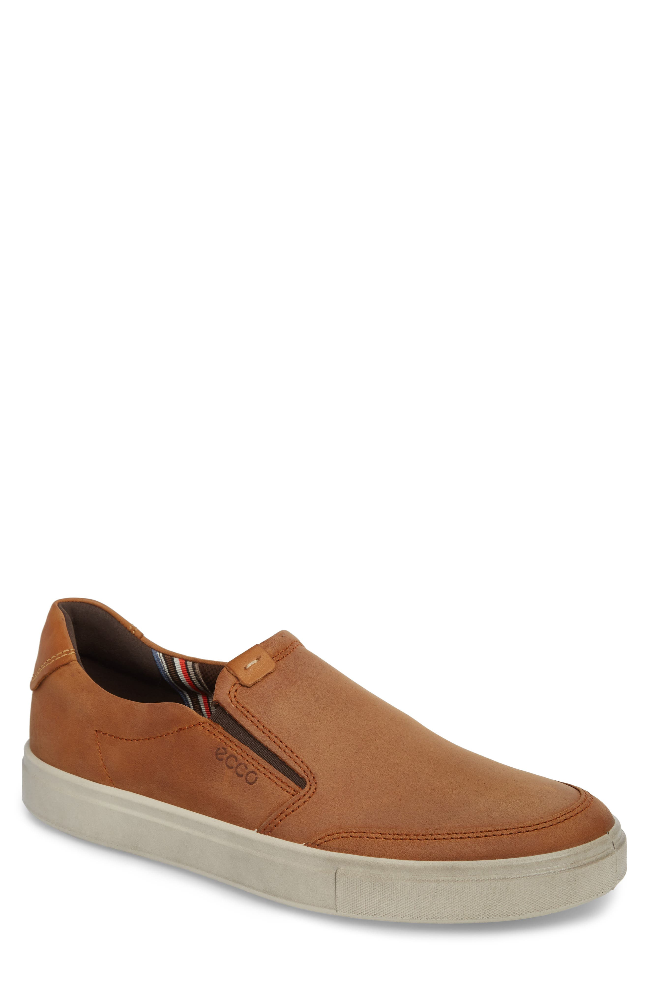 Kyle Slip-On,                         Main,                         color, AMBER LEATHER