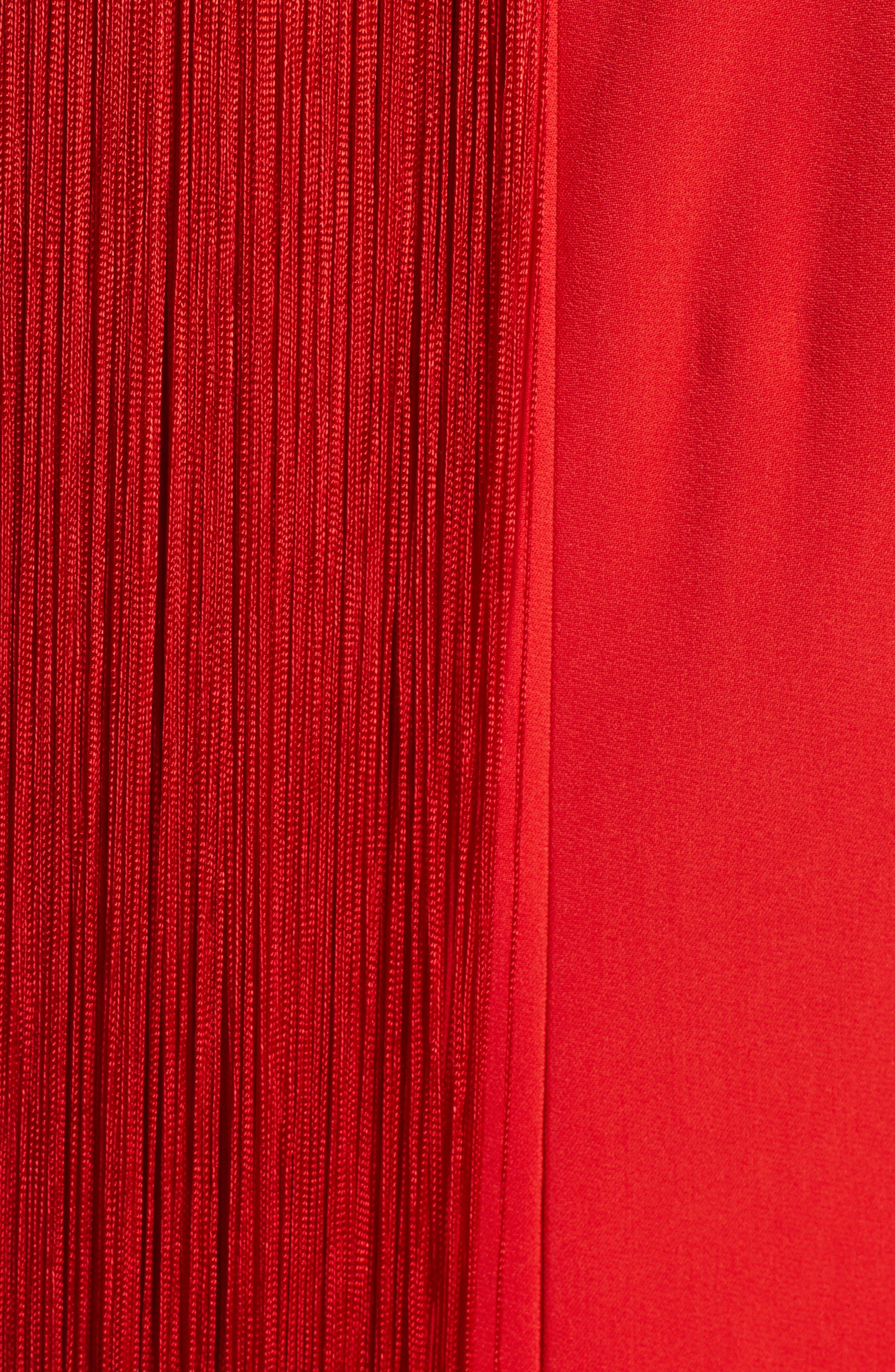 Fringe Overlay Dress,                             Alternate thumbnail 5, color,