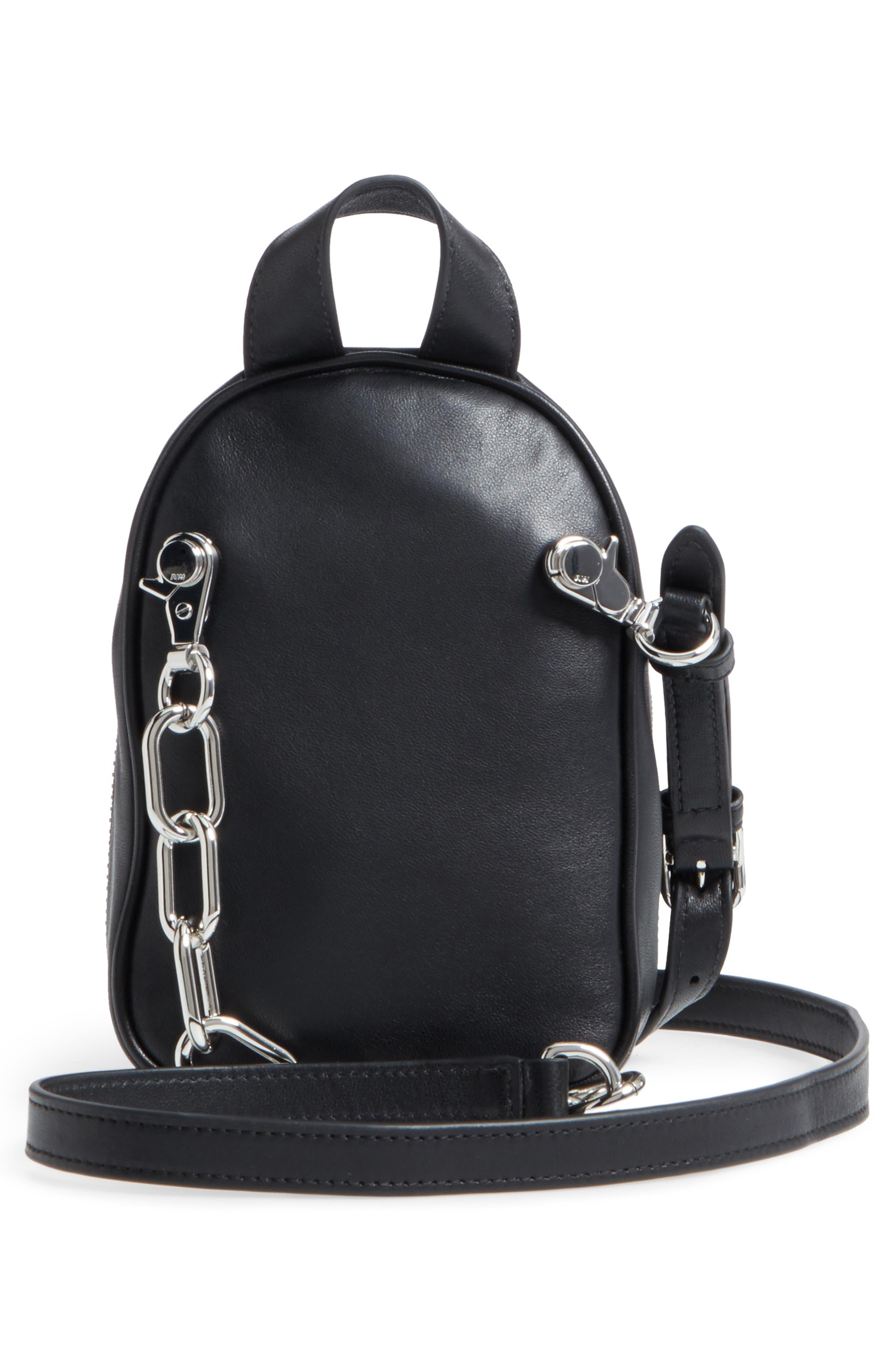 Mini Attica Leather Backpack Shaped Crossbody Bag,                             Alternate thumbnail 3, color,